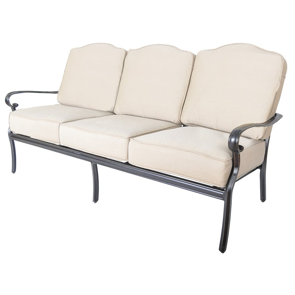 Mosca Patio Loveseats With Cushions Within Favorite Reagan Patio Sofa With Sunbrella Cushions (View 13 of 20)