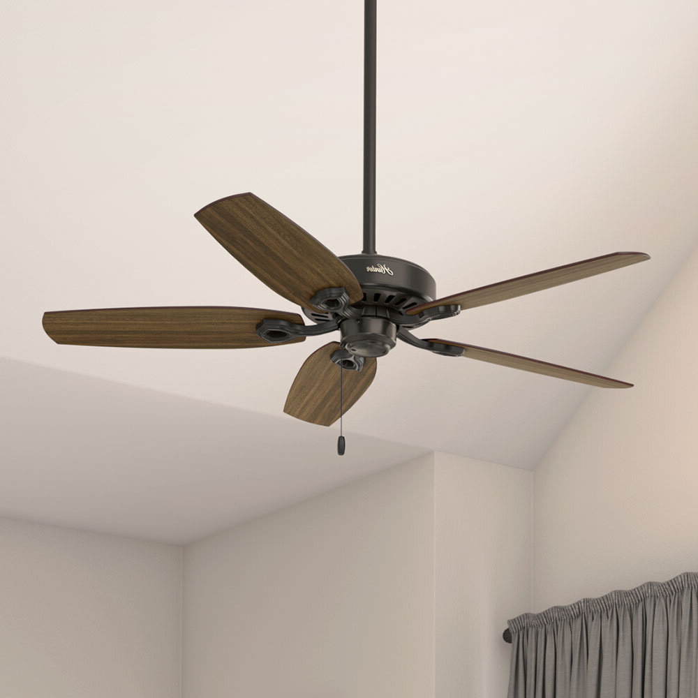 "Most Current 52"" Builder Elite 5 Blade Ceiling Fan Throughout Builder 5 Blade Ceiling Fans (View 16 of 20)"