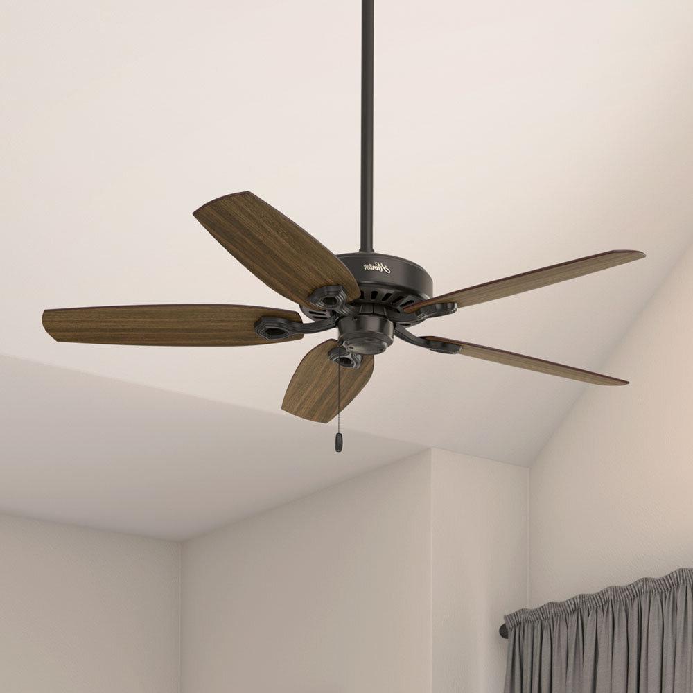"""Most Current 52"""" Builder Elite 5 Blade Ceiling Fan Throughout Builder 5 Blade Ceiling Fans (View 16 of 20)"""