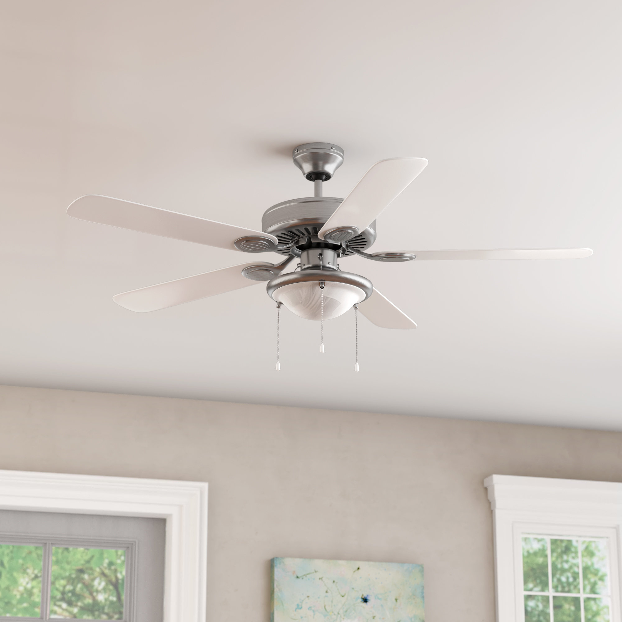"Most Current 52"" Chadbourne 5 Blade Ceiling Fan Throughout Eliora 5 Blade Ceiling Fans (View 9 of 20)"