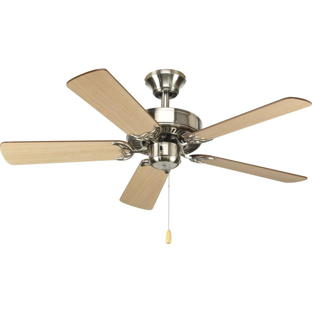 Most Current Builder 5 Blade Ceiling Fans Regarding Progress Lighting Airpro Builder 42 In (View 13 of 20)