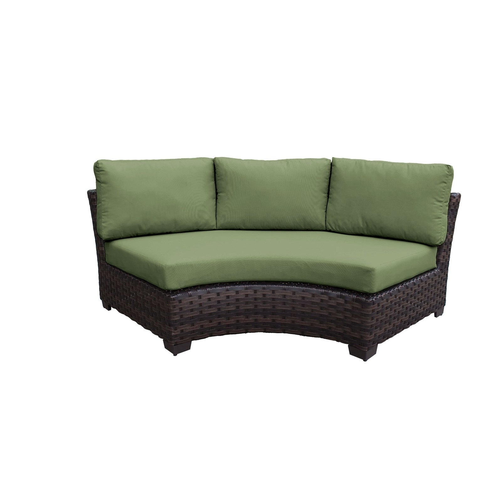 Most Current Camak Patio Loveseats With Cushions For Kathy Ireland River Brook 6 Piece Outdoor Wicker Patio Furniture Set 06C (View 12 of 20)