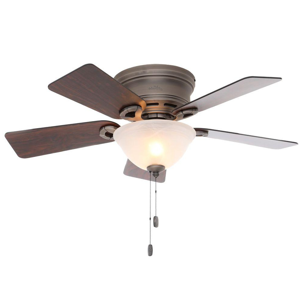 Most Current Dempsey Low Profile Blade Ceiling Fan With Remote Light Kit In Dempsey Low Profile 4 Blade Ceiling Fans With Remote (View 17 of 20)