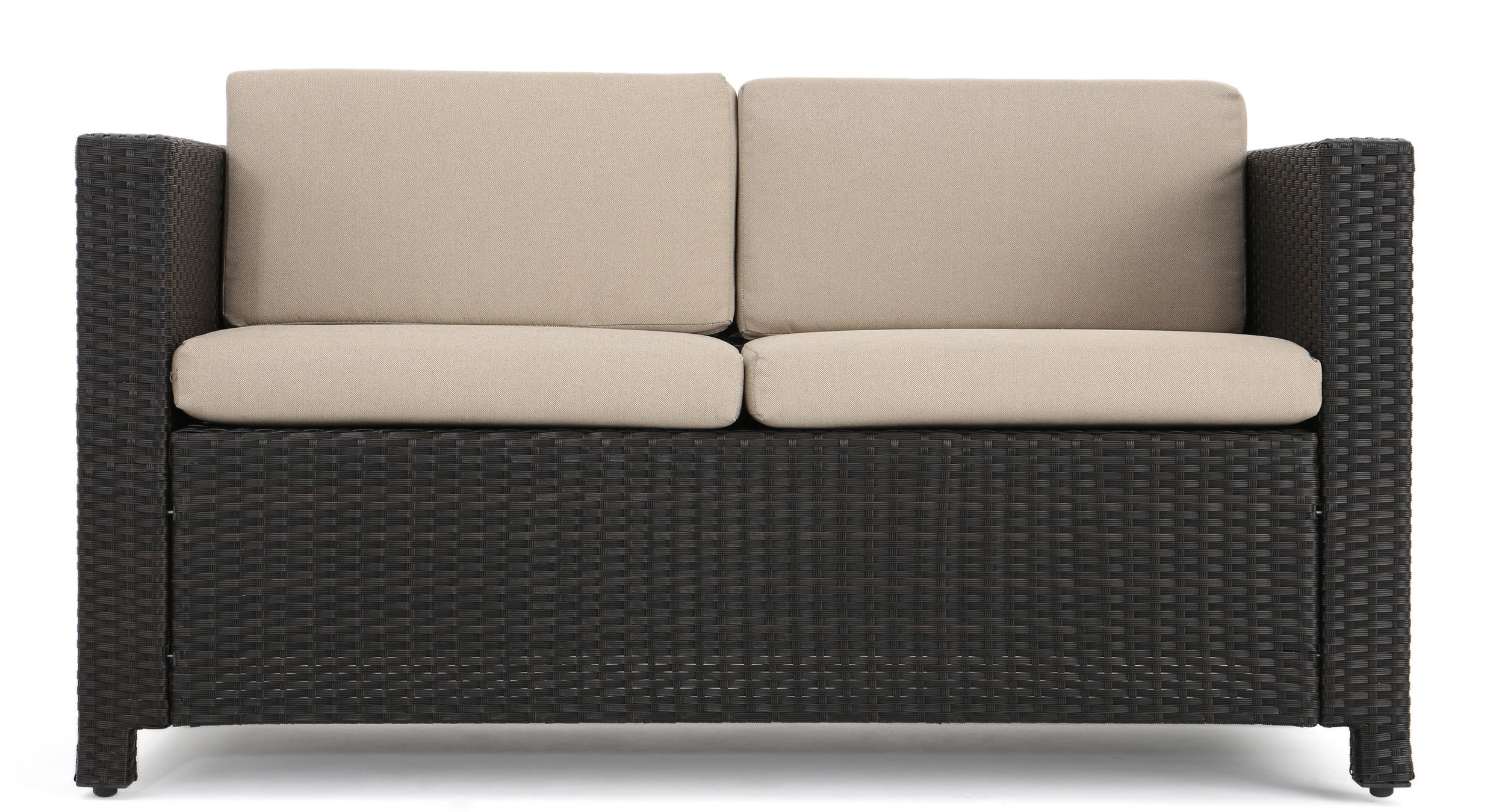 Most Current Furst Outdoor Loveseat With Cushions Throughout Furst Patio Sofas With Cushion (View 14 of 20)