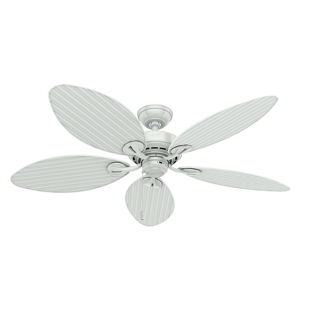 "Most Current Key Biscayne 5 Blade Outdoor Ceiling Fans Pertaining To 54"" Key Biscayne 5 Blade Ceiling Fan (View 10 of 20)"