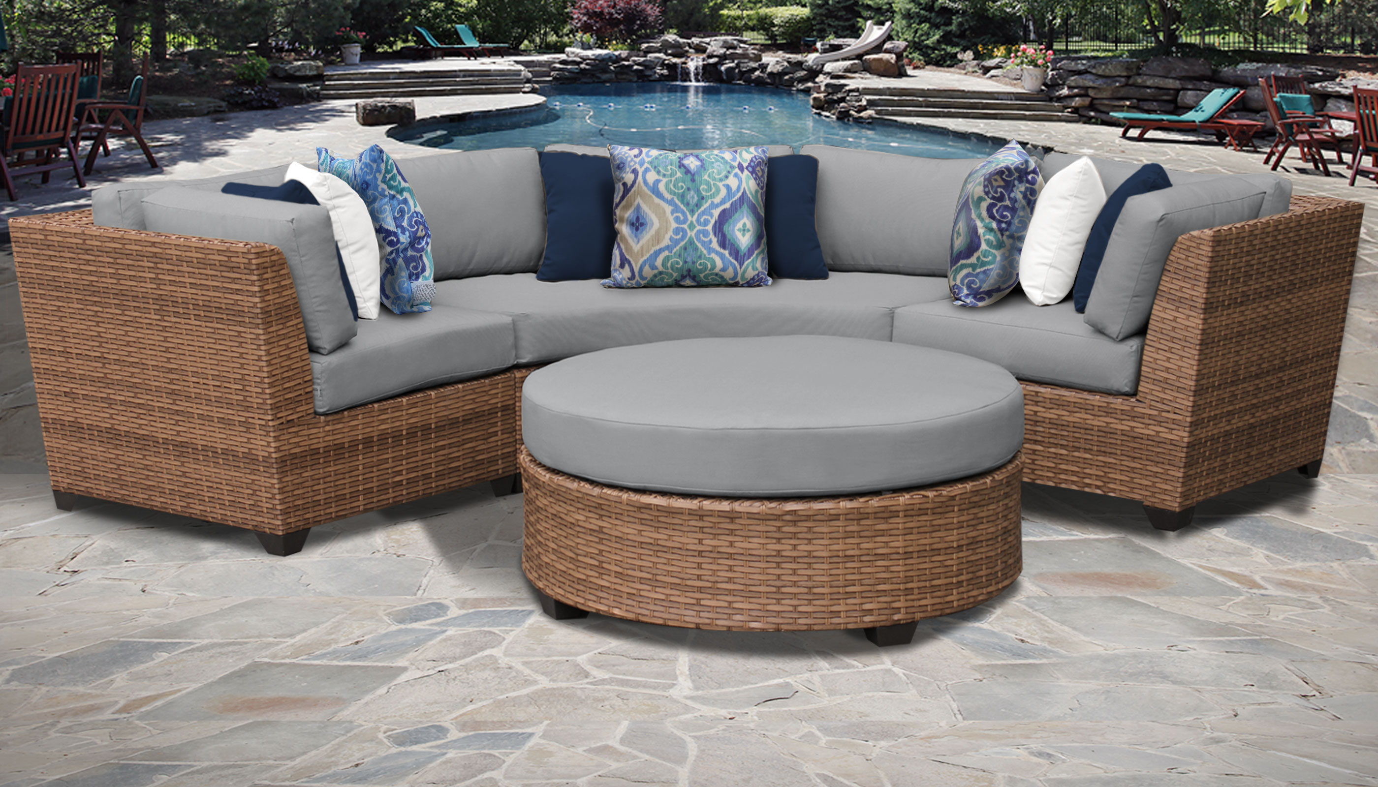 Most Current Laguna Outdoor Sofas With Cushions Within Laguna 4 Piece Outdoor Wicker Patio Furniture Set 04A (View 13 of 20)