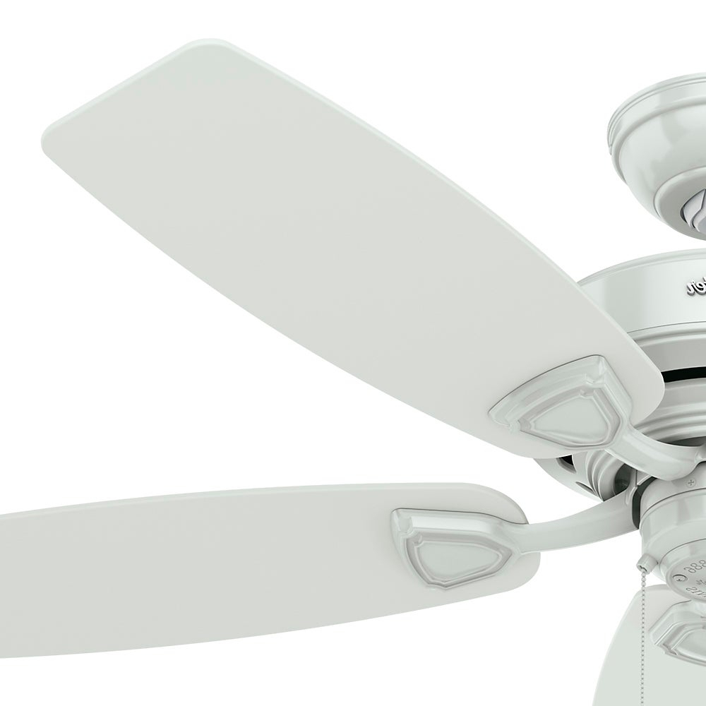 Most Current Sea Wind 5 Blade Ceiling Fans With Hunter Sea Wind Collection White 48 Inch 5 White Plastic Blades Ceiling Fan (View 5 of 20)