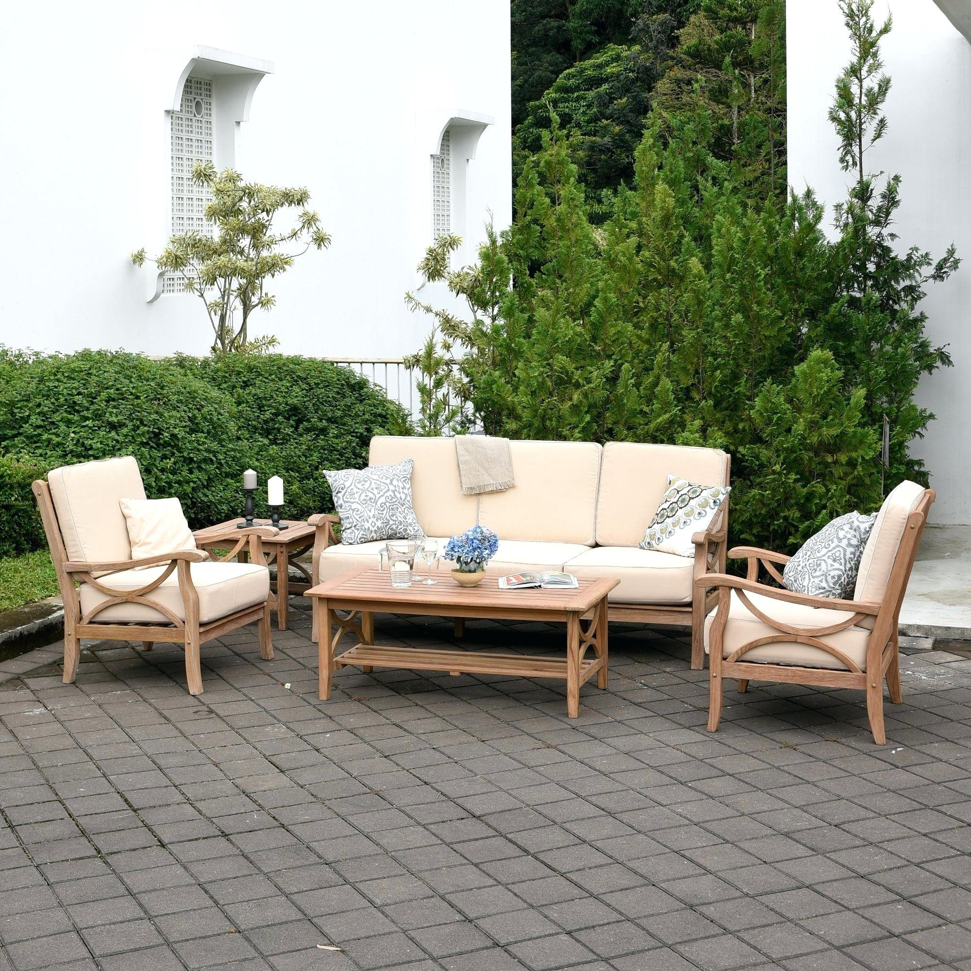 Most Current Summerton Teak Patio Sofas With Cushions Pertaining To Teak Patio Chairs – Appyhomes (View 10 of 20)