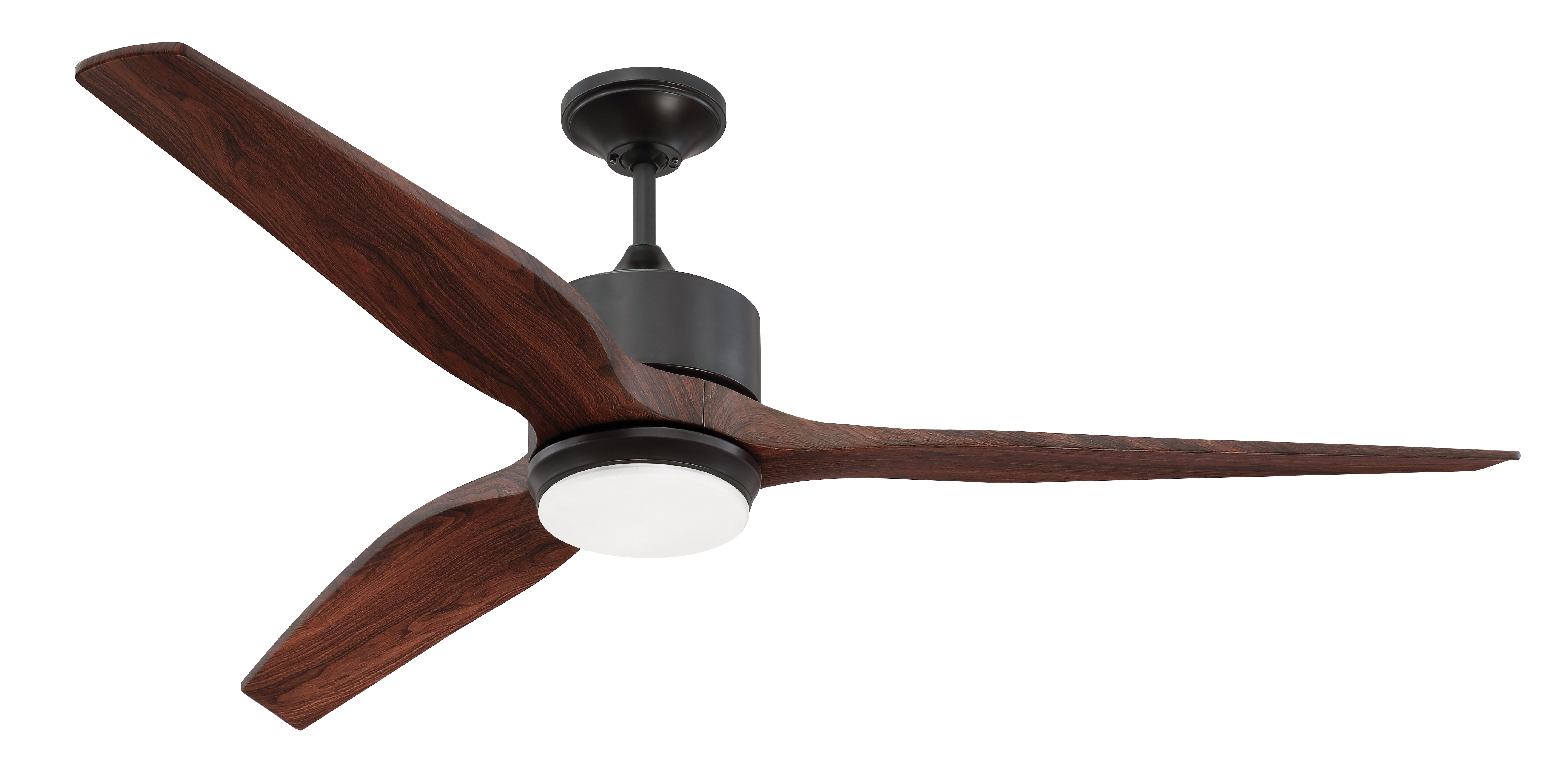 "Most Current Troy 3 Blade Led Ceiling Fans Intended For 60"" Paige 3 Blade Led Ceiling Fan With Remote, Light Kit Included (View 3 of 20)"