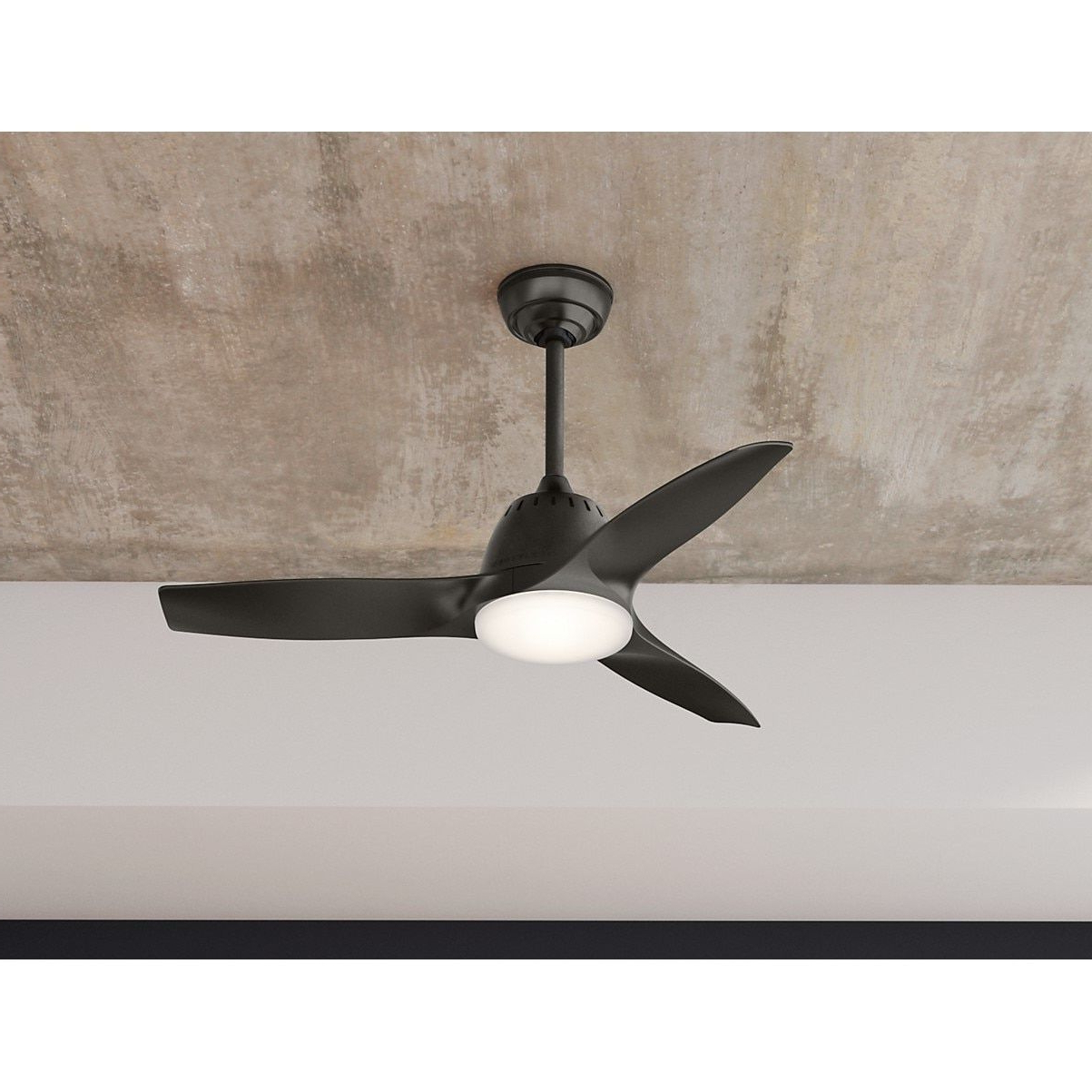 Most Current Wisp 3 Blade Led Ceiling Fans Within Casablanca Fan Wisp Noble Bronze 44 Inch Ceiling Fan With  (View 8 of 20)