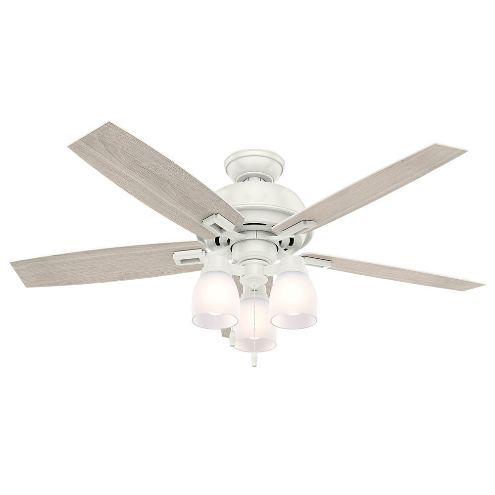 "Most Popular 52"" Donegan 5 Blade Led Ceiling Fan, Light Kit Included Regarding Donegan 5 Blade Led Ceiling Fans (View 2 of 20)"