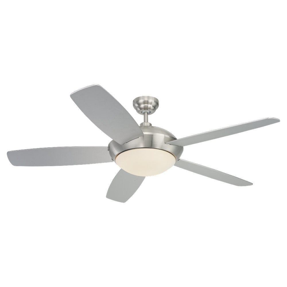 "Most Popular 52"" Hemsworth Modern 5 Blade Ceiling Fan With Remote Throughout Hemsworth 4 Blade Ceiling Fans (View 14 of 20)"