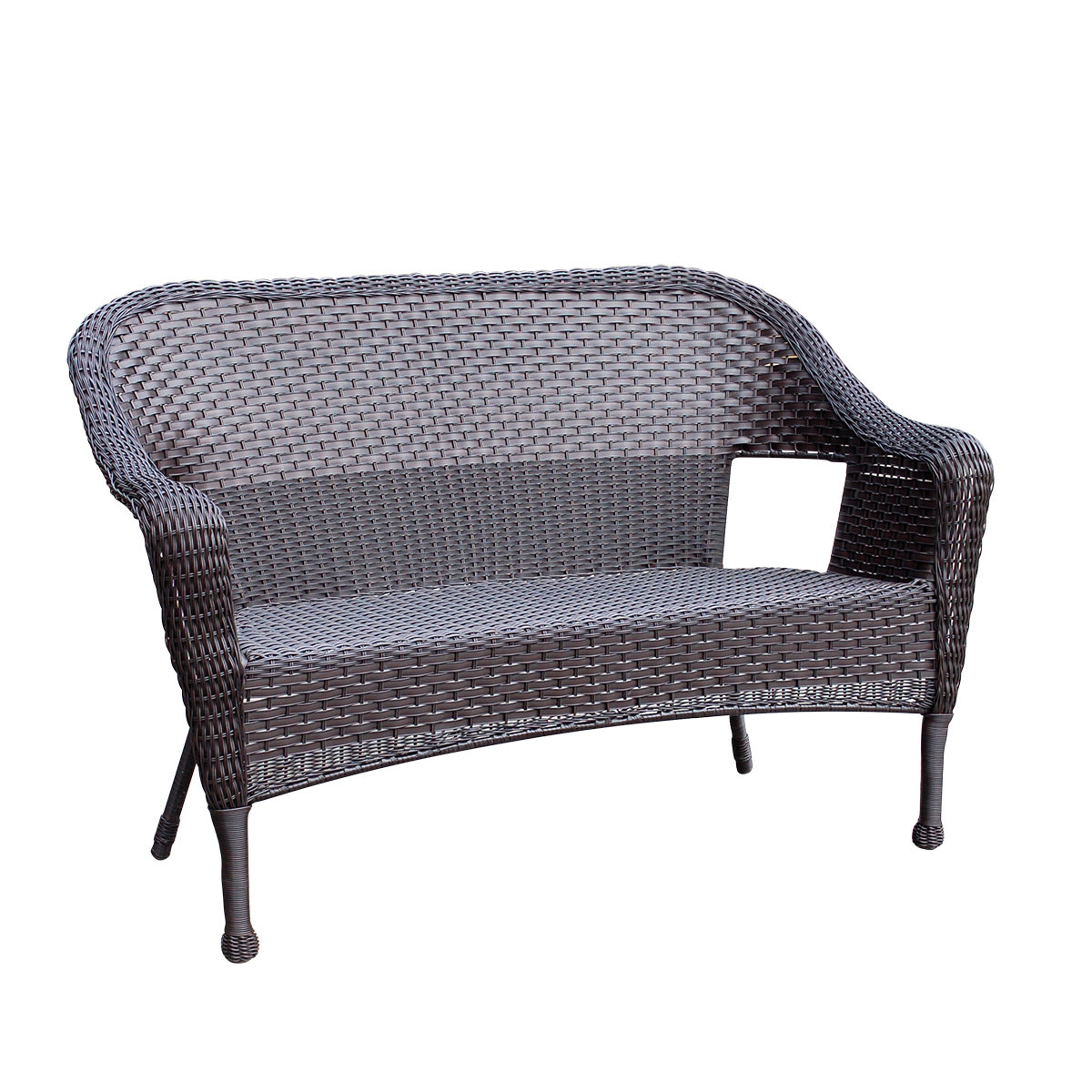Most Popular Alcott Hill Kentwood Resin Wicker Loveseat & Reviews In Karan Wicker Patio Loveseats (View 15 of 20)