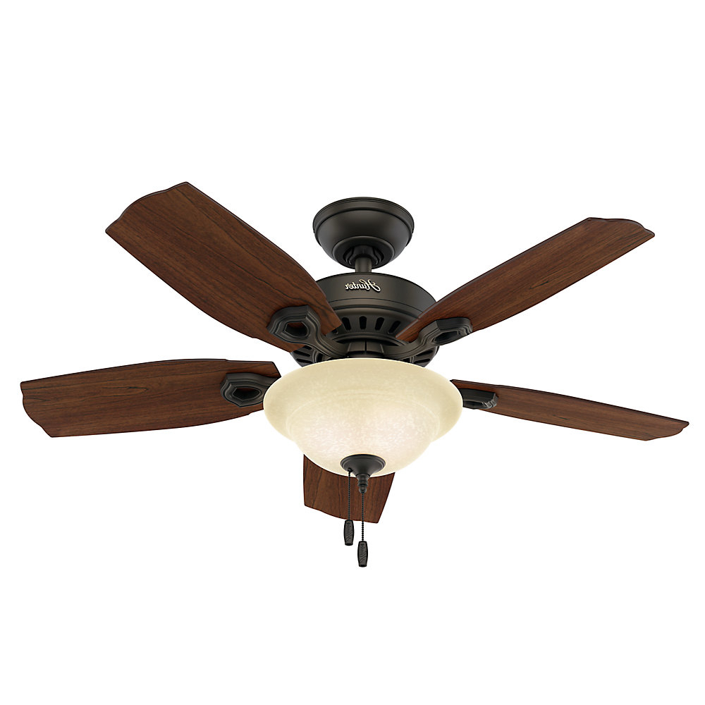 "Most Popular Auden 5 Blade Led Ceiling Fans Inside 44"" Madalyn 5 Blad, Light Kit Included (View 12 of 20)"