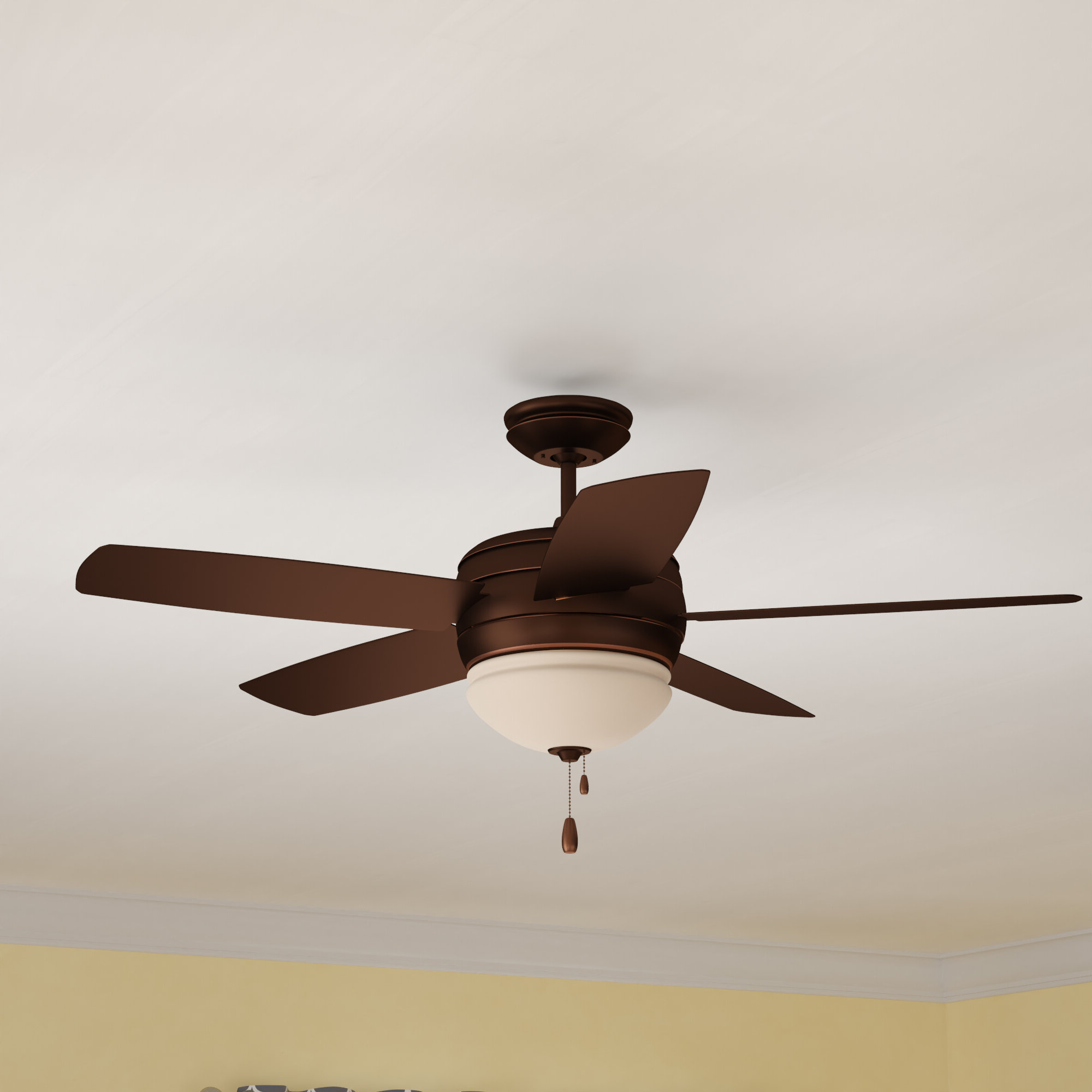 "Most Popular Beltran 5 Blade Ceiling Fans Intended For 52"" Ericson 5 Blade Outdoor Ceiling Fan, Light Kit Included (View 15 of 20)"