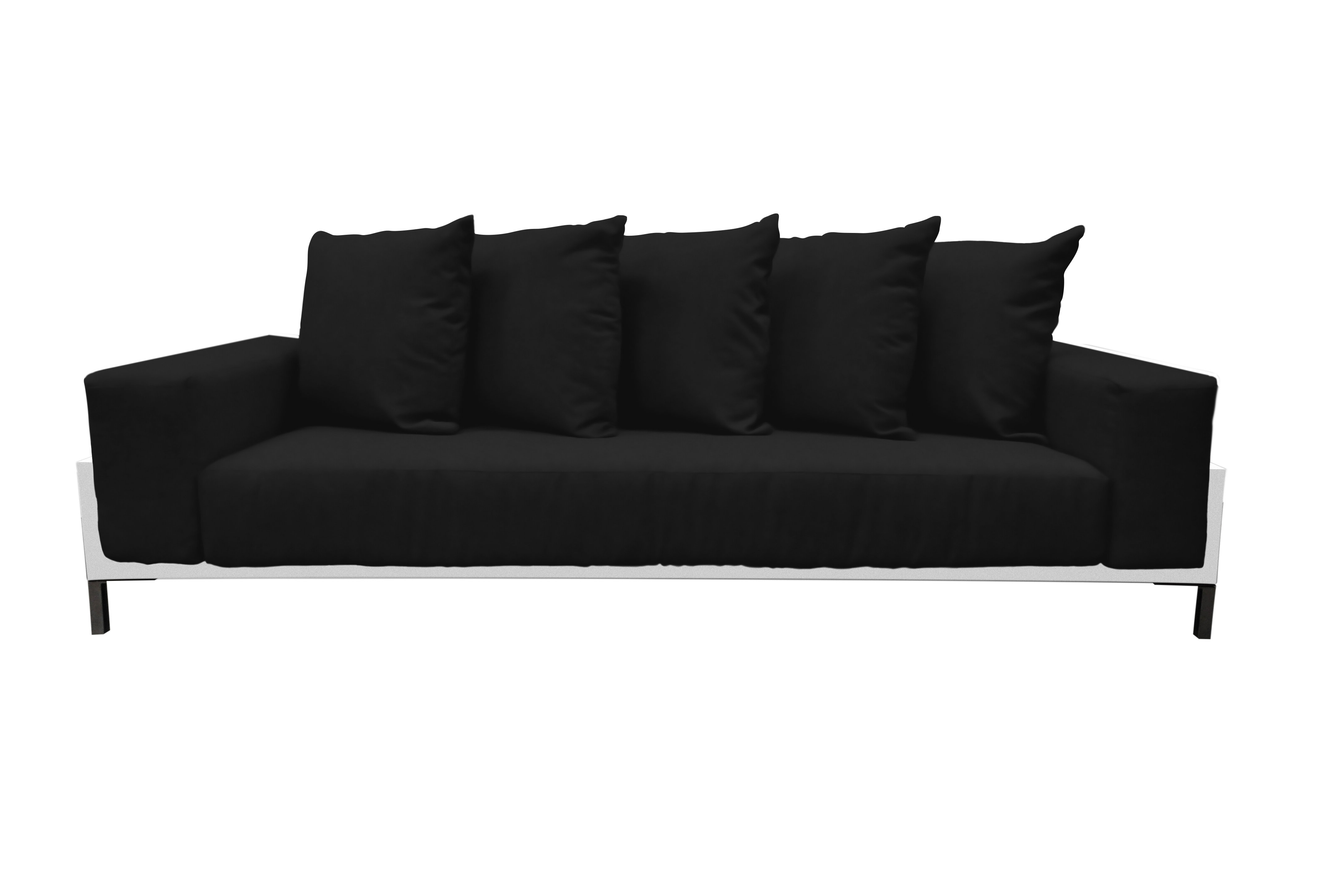 Most Popular Camak Patio Loveseats With Cushions Throughout Tilly Deep Seated Patio Sofa With Cushions (View 13 of 20)