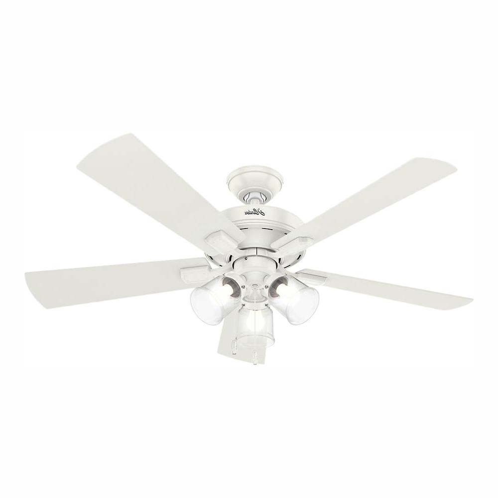 Most Popular Crestfield 5 Blade Led Ceiling Fans With Regard To Hunter Crestfield 52 In (View 15 of 20)