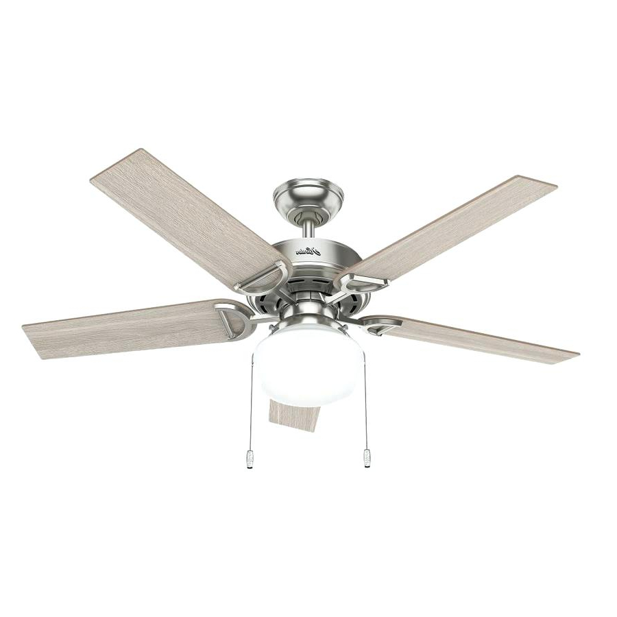 Most Popular Engaging 5 Light Ceiling Fan 52 Caruthersville Crystal 6 In Anslee 5 Blade Ceiling Fans (View 14 of 20)