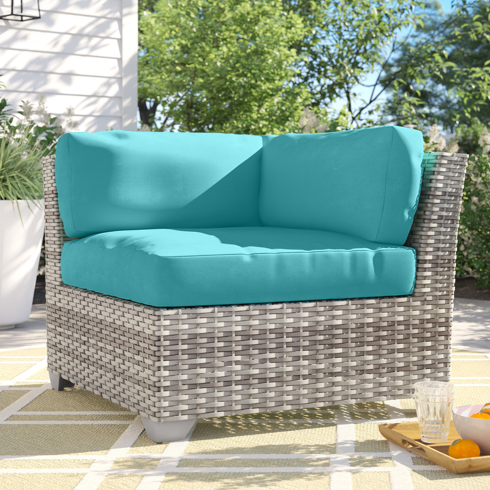 Most Popular Falmouth Patio Sofas With Cushions Pertaining To Falmouth Corner Patio Chair With Cushions (View 17 of 20)