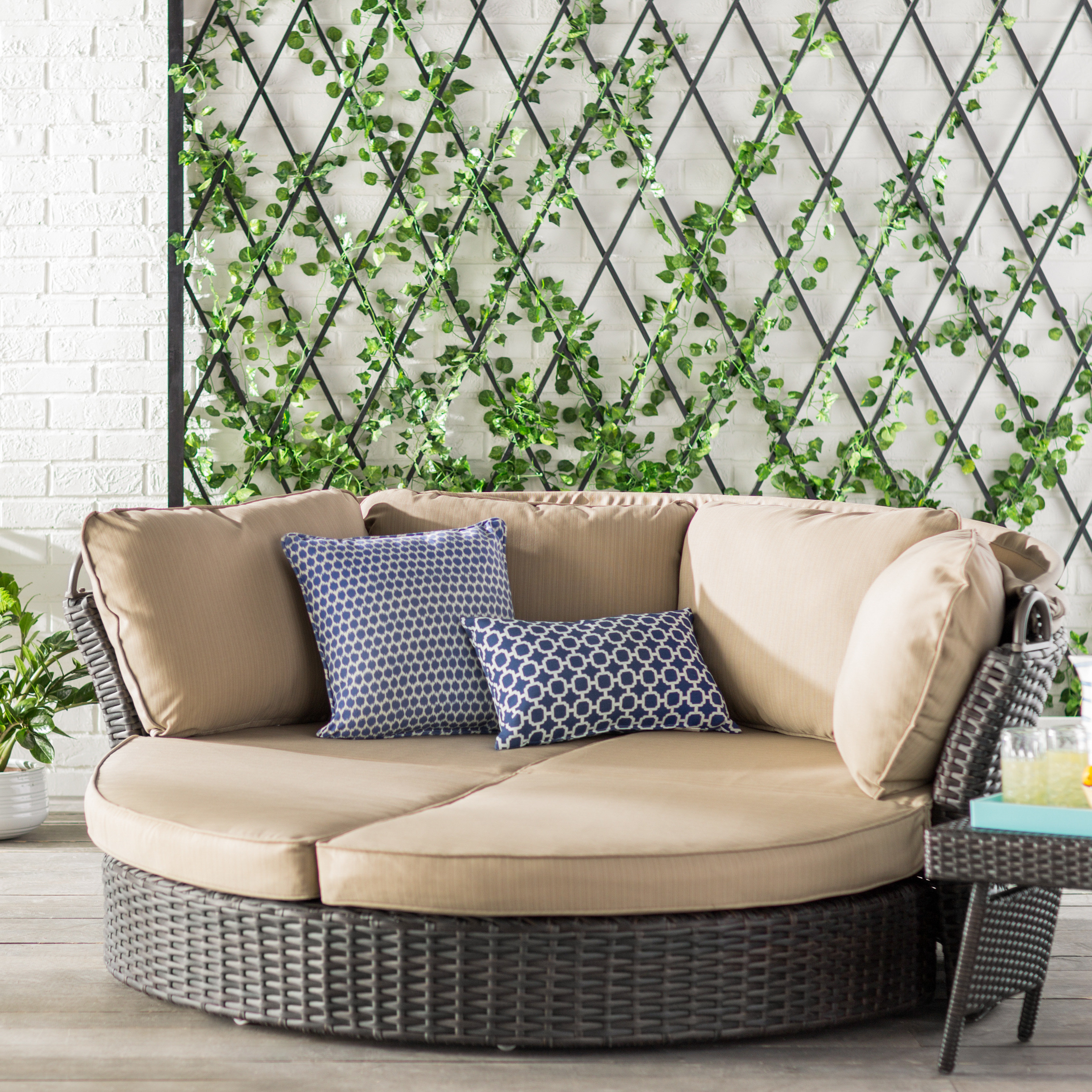 Most Popular Fansler Patio Daybeds With Cushions With Tiana Patio Daybed With Cushions (View 18 of 20)