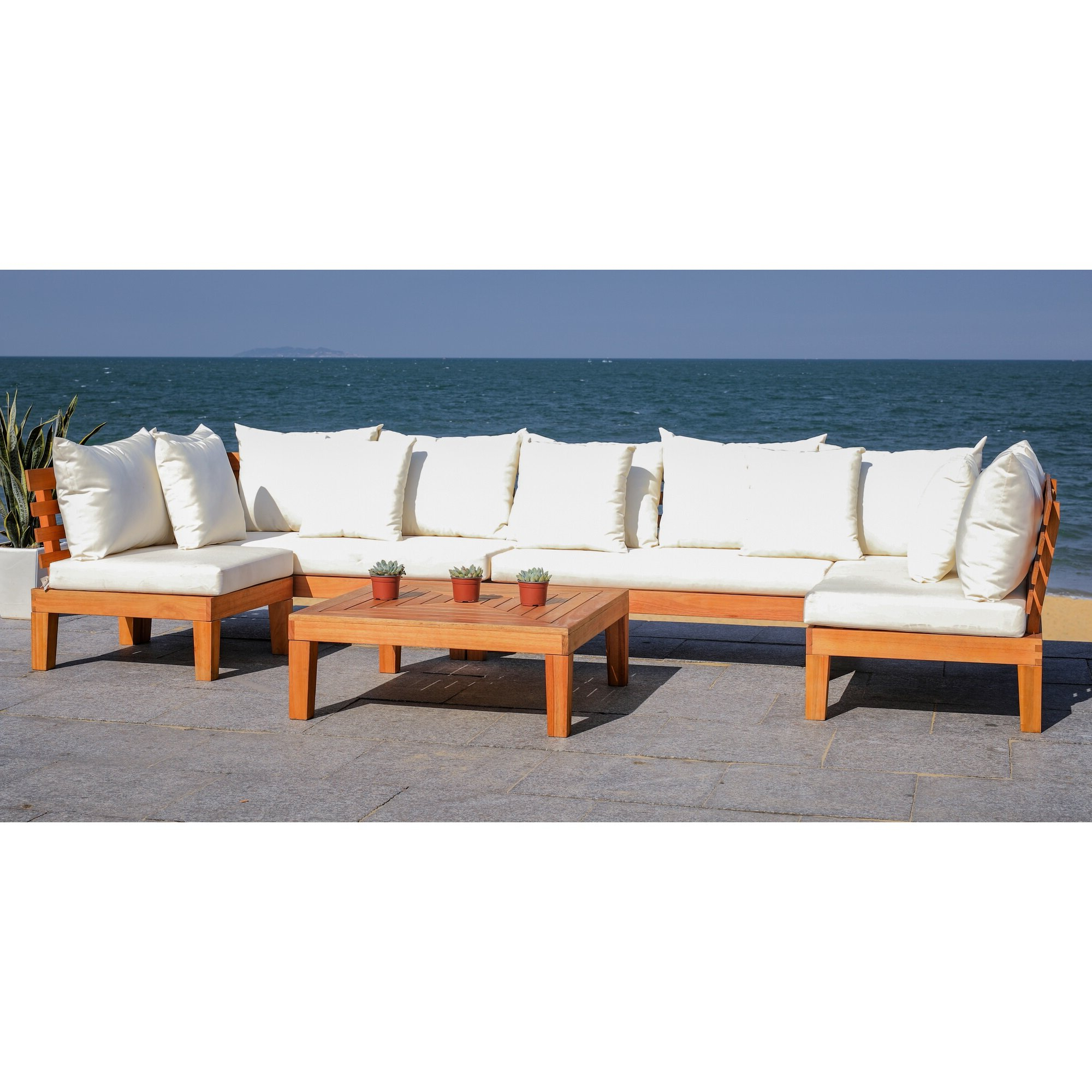 Most Popular Greta Living Patio Sectional With Cushions In Tess Corner Living Patio Sectionals With Cushions (View 2 of 20)