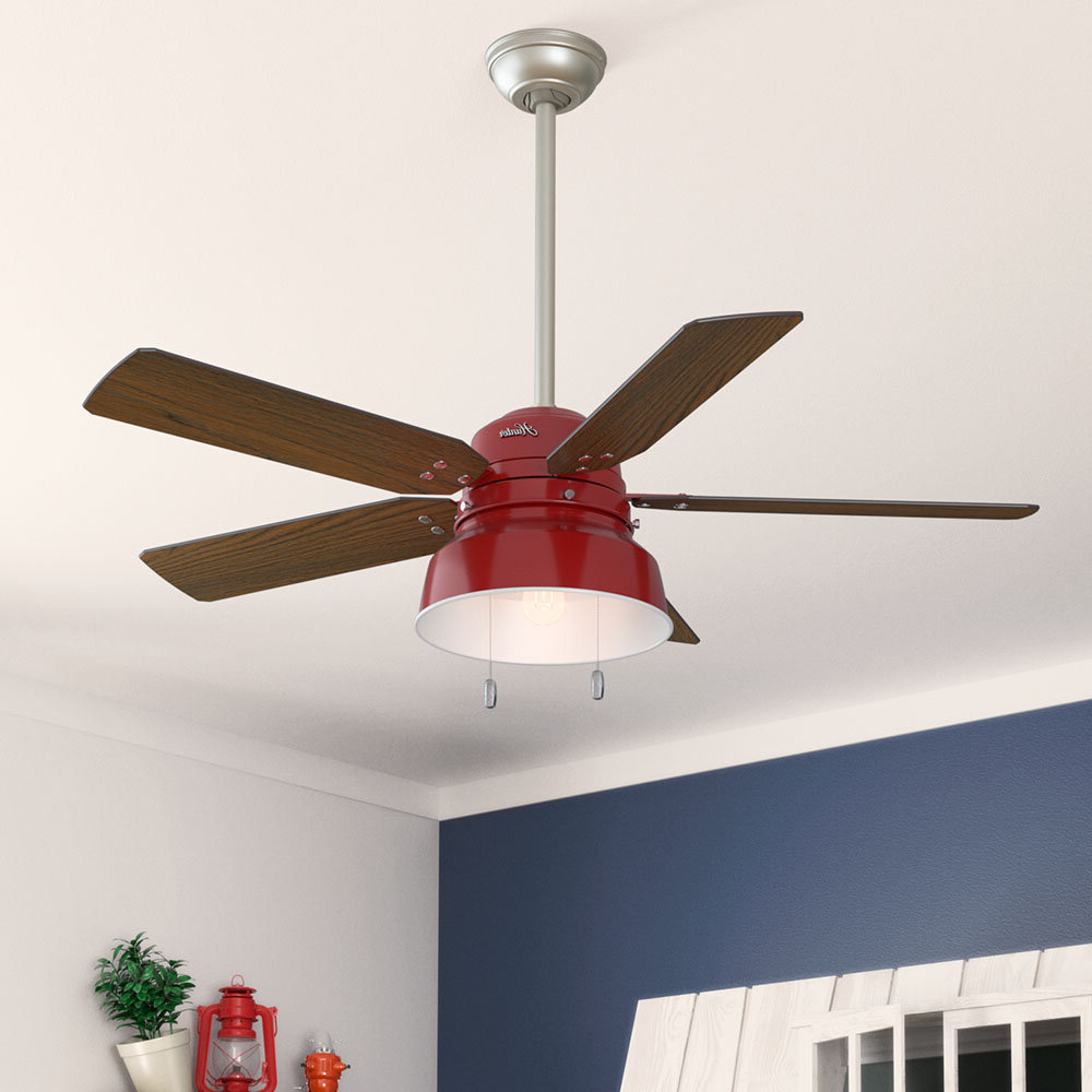 "Most Popular Hunter Fan 52"" Mill Valley 5 Blade Outdoor Ceiling Fan Pertaining To Mill Valley 5 Blade Ceiling Fans (View 9 of 20)"