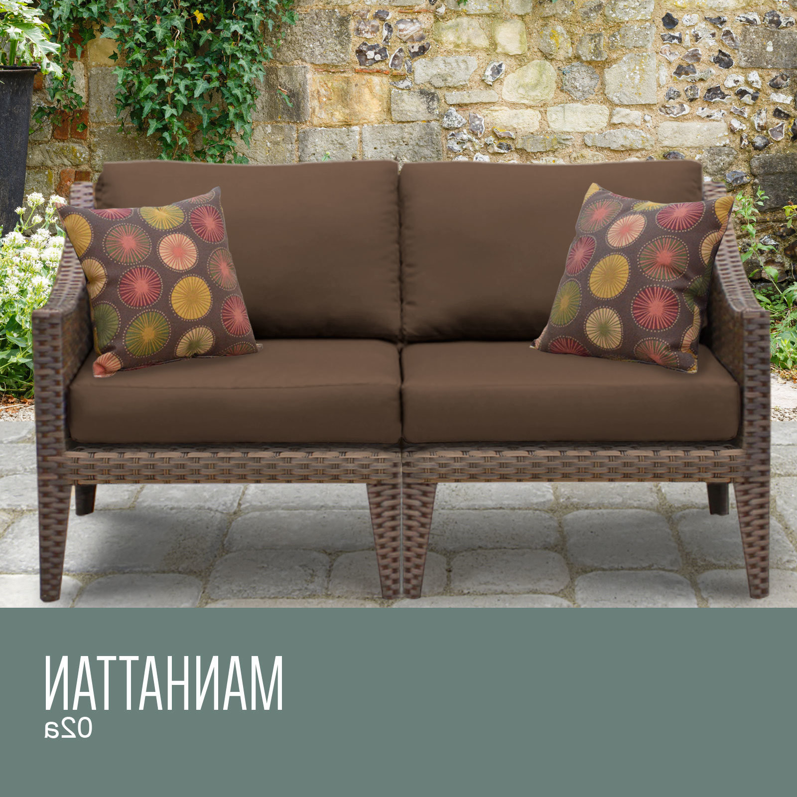 Most Popular Laverton Loveseats With Cushions Throughout Manhattan Outdoor Loveseat With Cushions (View 13 of 20)