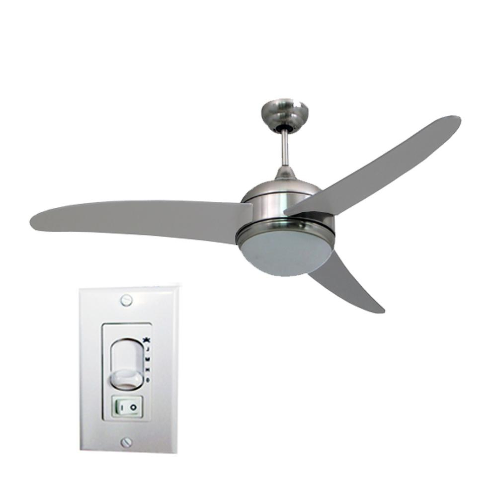 Most Popular Lindsay 5 Blade Ceiling Fans In Homeselects Contempo 52 In (View 11 of 20)