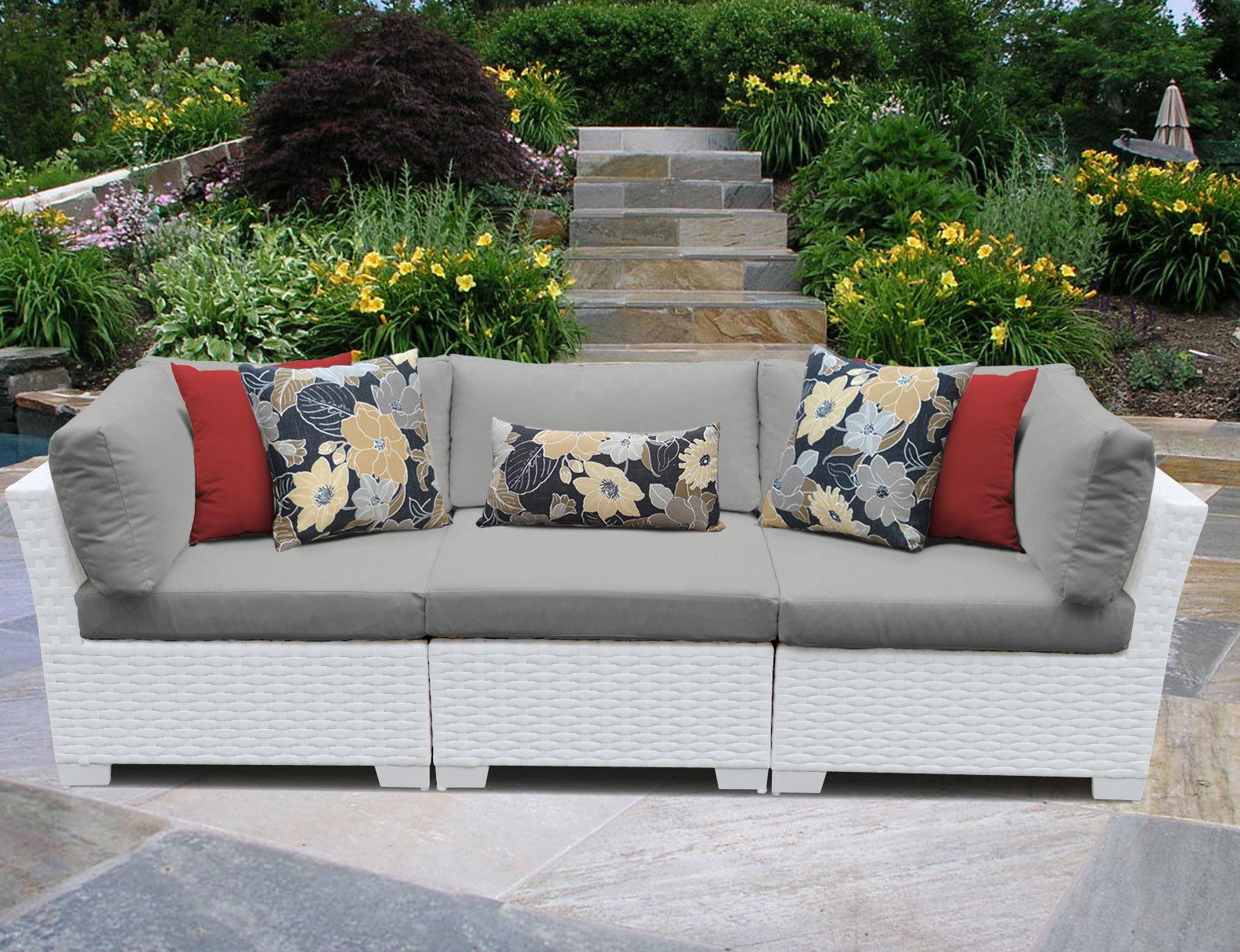 Most Popular Monaco Patio Sofa With Cushions With Vallauris Sofa With Cushions (View 5 of 20)
