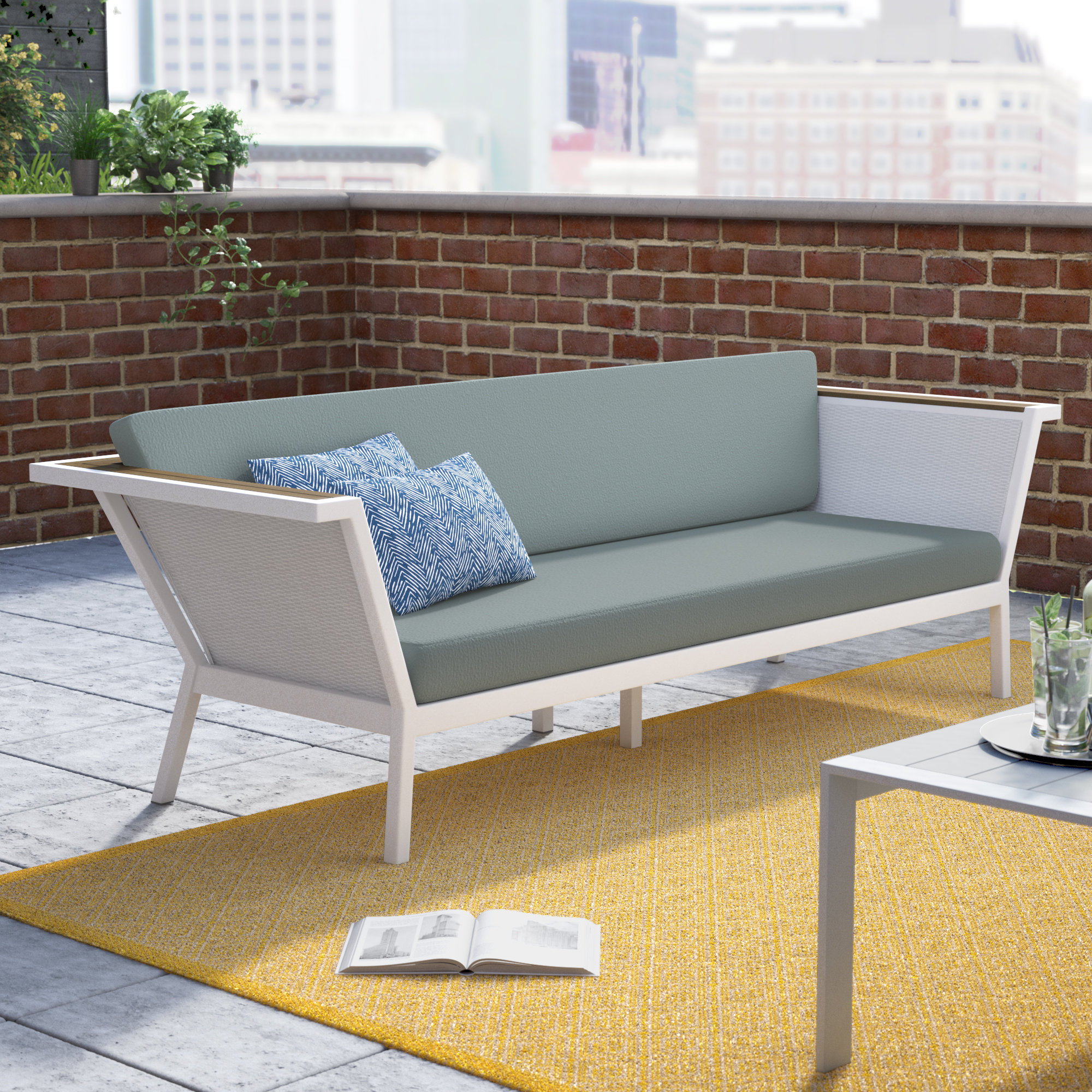 Most Popular Sylvania Outdoor Loveseats Inside Modern Metal Outdoor Loveseats (View 15 of 20)