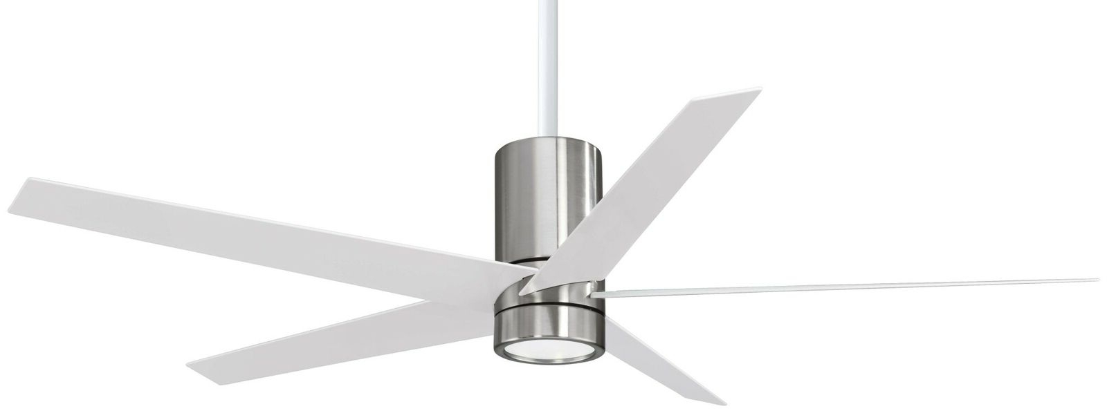 "Most Popular Symbio 5 Blade Led Ceiling Fans Pertaining To Minkaaire Symbio 56"" 5 Blade Indoor Ceiling Fan With Integrated Led Light  Kit, (View 10 of 20)"