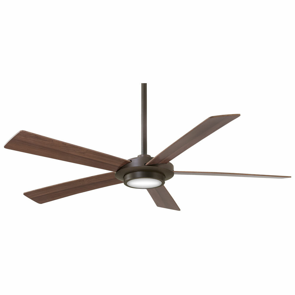 "Most Popular Symbio 5 Blade Led Ceiling Fans Regarding 52"" Sabot 5 Blade Led Ceiling Fan With Remote (View 11 of 20)"