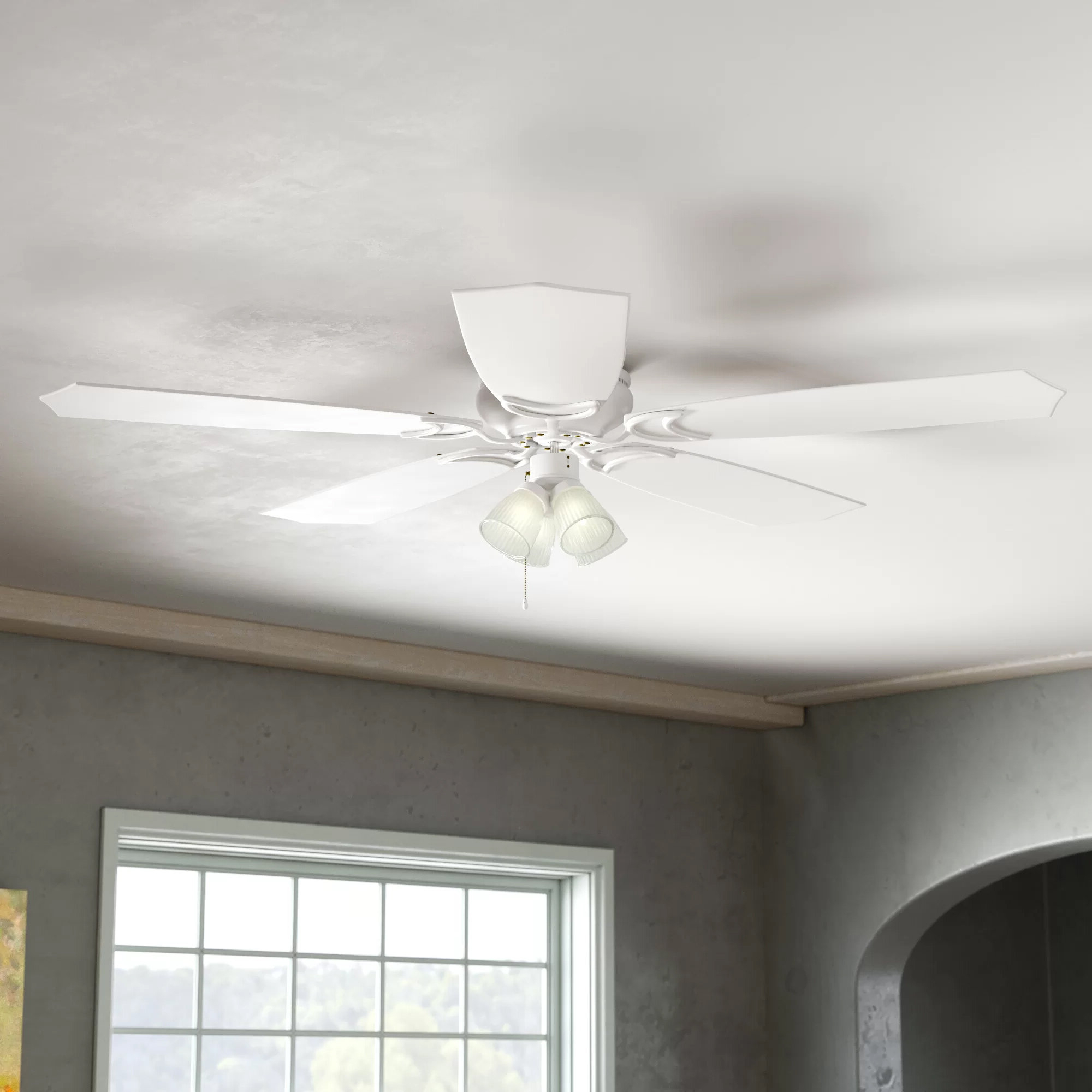 "Most Popular Tarbell 52"" Brilliante 5 Blade Ceiling Fan With Regard To Hatherton 5 Blade Ceiling Fans (View 8 of 20)"
