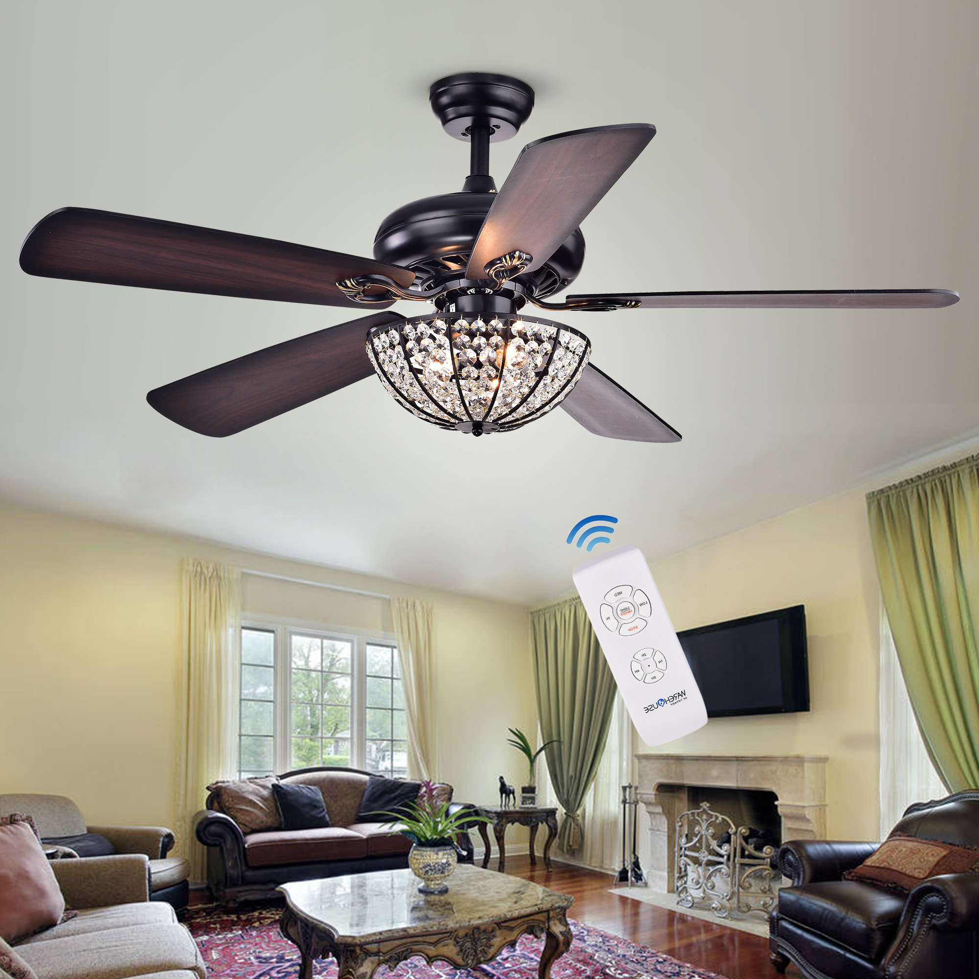 Most Recent 5 Blade Ceiling Fan Regarding Dunaghy 5 Blade Ceiling Fans (View 13 of 20)