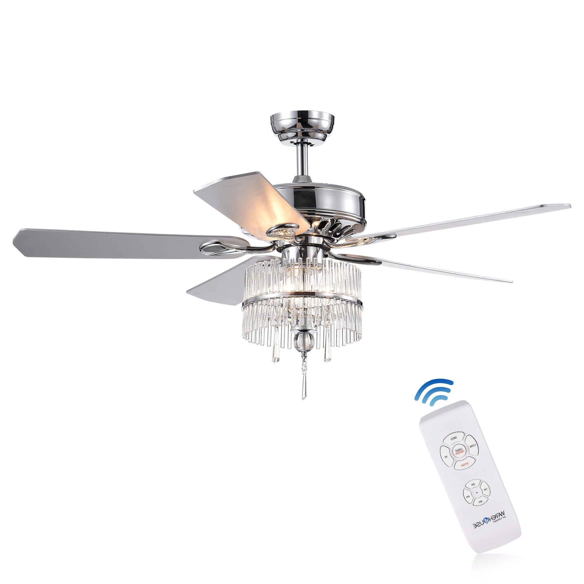 """Most Recent 5 Blade Ceiling Fans With Remote For 52"""" Glenlee 5 Blade Ceiling Fan With Remote (View 17 of 20)"""