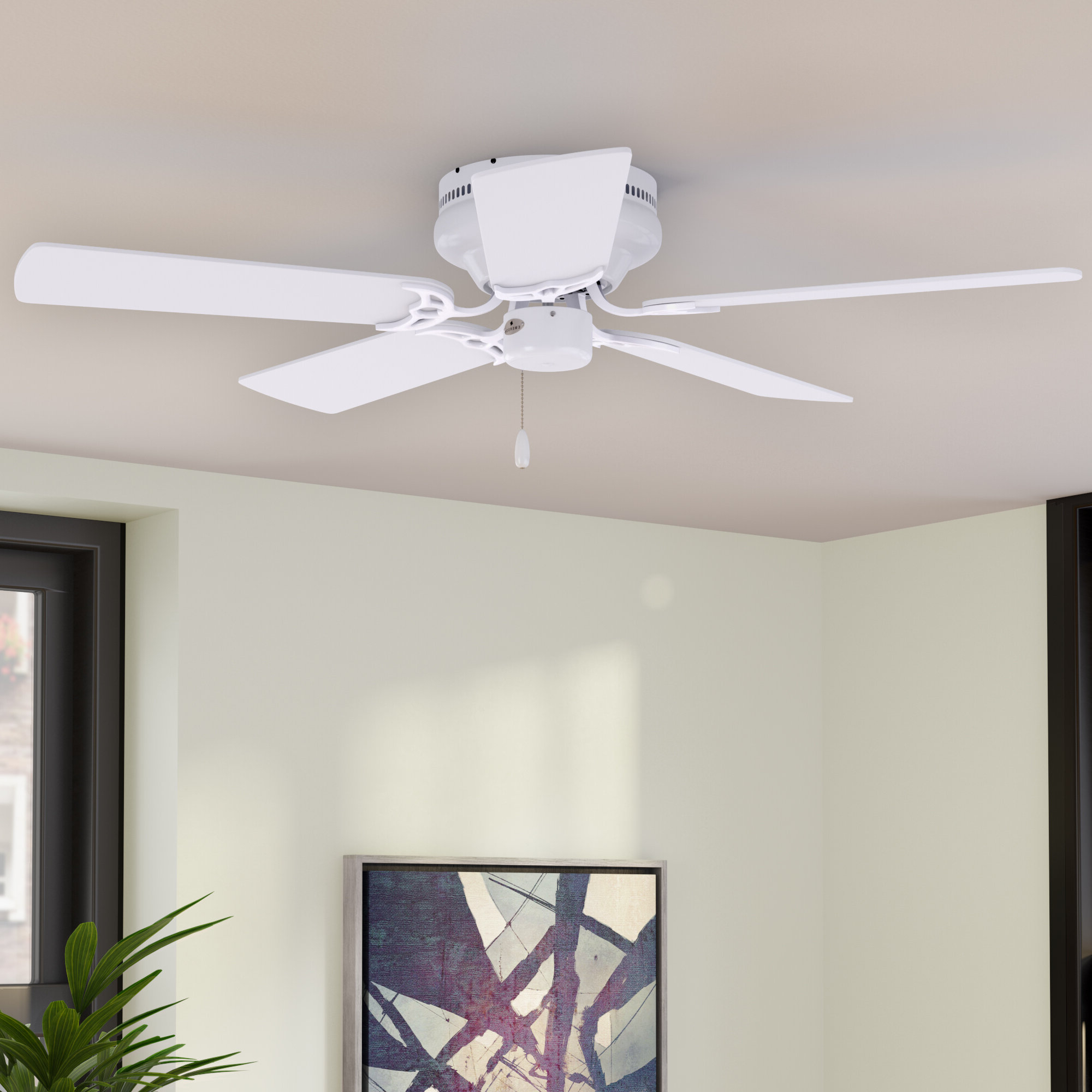 """Most Recent 52"""" Williamson 5 Blade Ceiling Fan For Cerro 5 Blade Ceiling Fans (View 8 of 20)"""