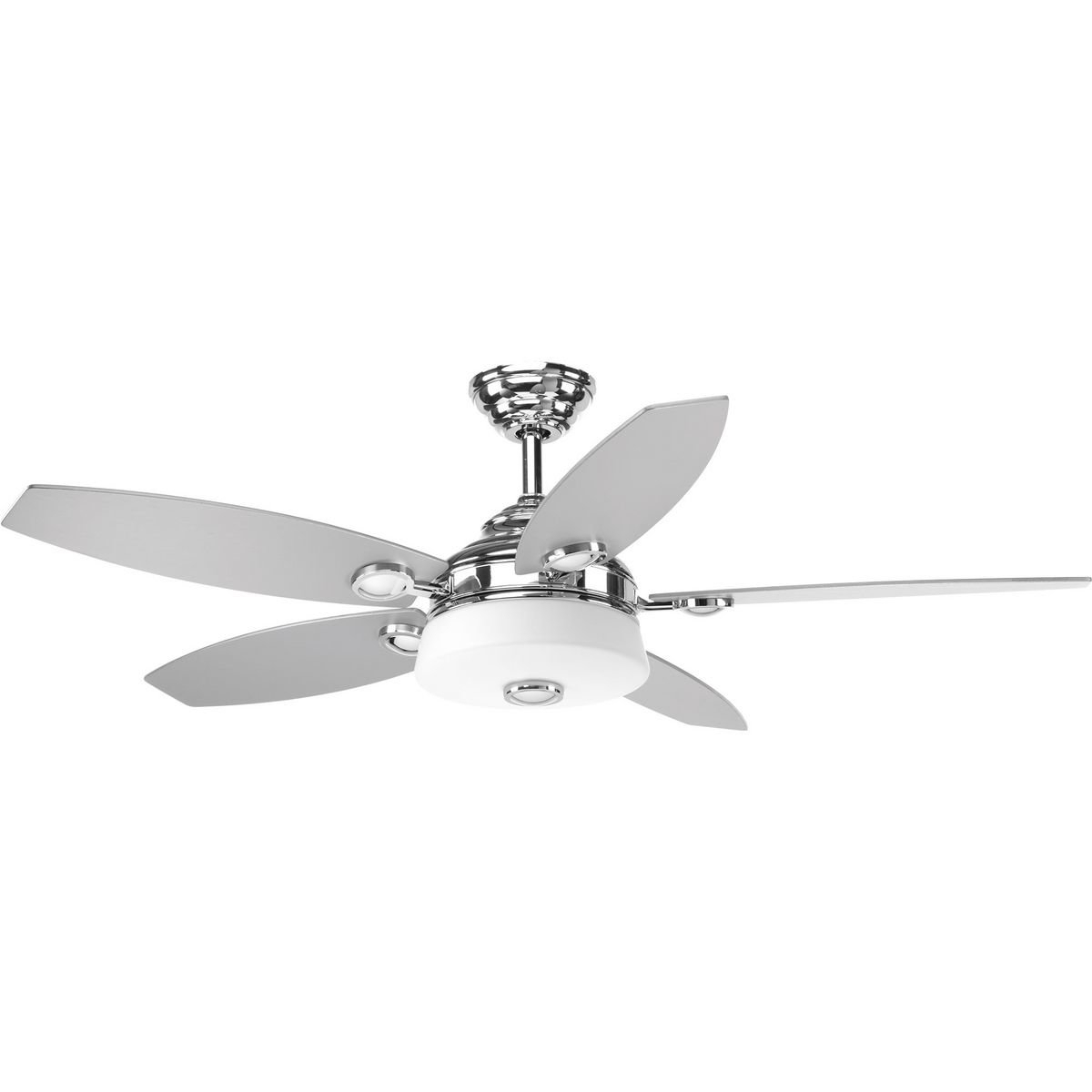 "Most Recent 54"" Keriann 5 Blade Led Ceiling Fan With Remote, Light Kit Included Inside Stewardson 4 Blade Ceiling Fans (View 16 of 20)"