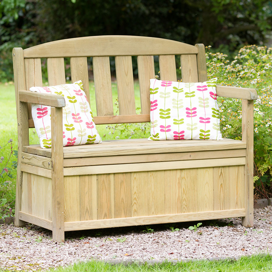 Most Recent Bence Plastic Outdoor Garden Benches Regarding Zest4leisure Caroline Garden Storage Bench (View 12 of 25)