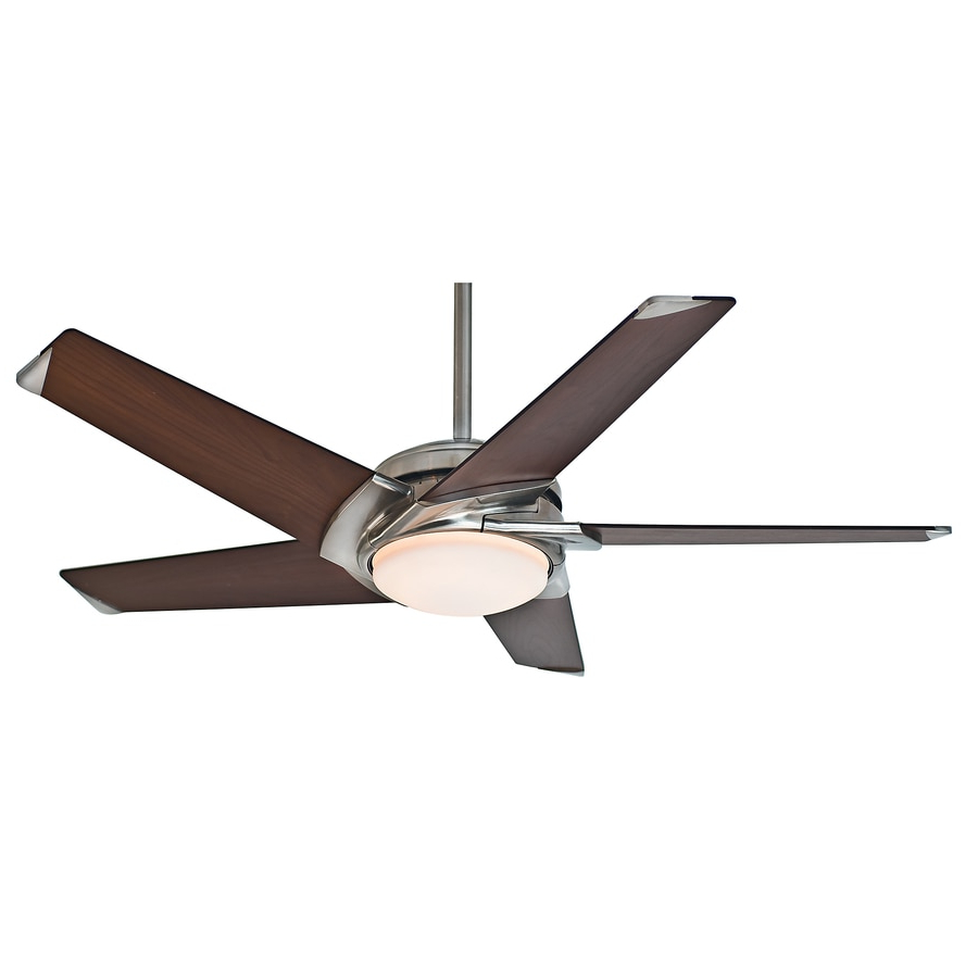 Most Recent Casablanca Stealth 54 In Brushed Nickel Downrod Or Flush Within Windemere 5 Blade Ceiling Fans With Remote (View 15 of 20)