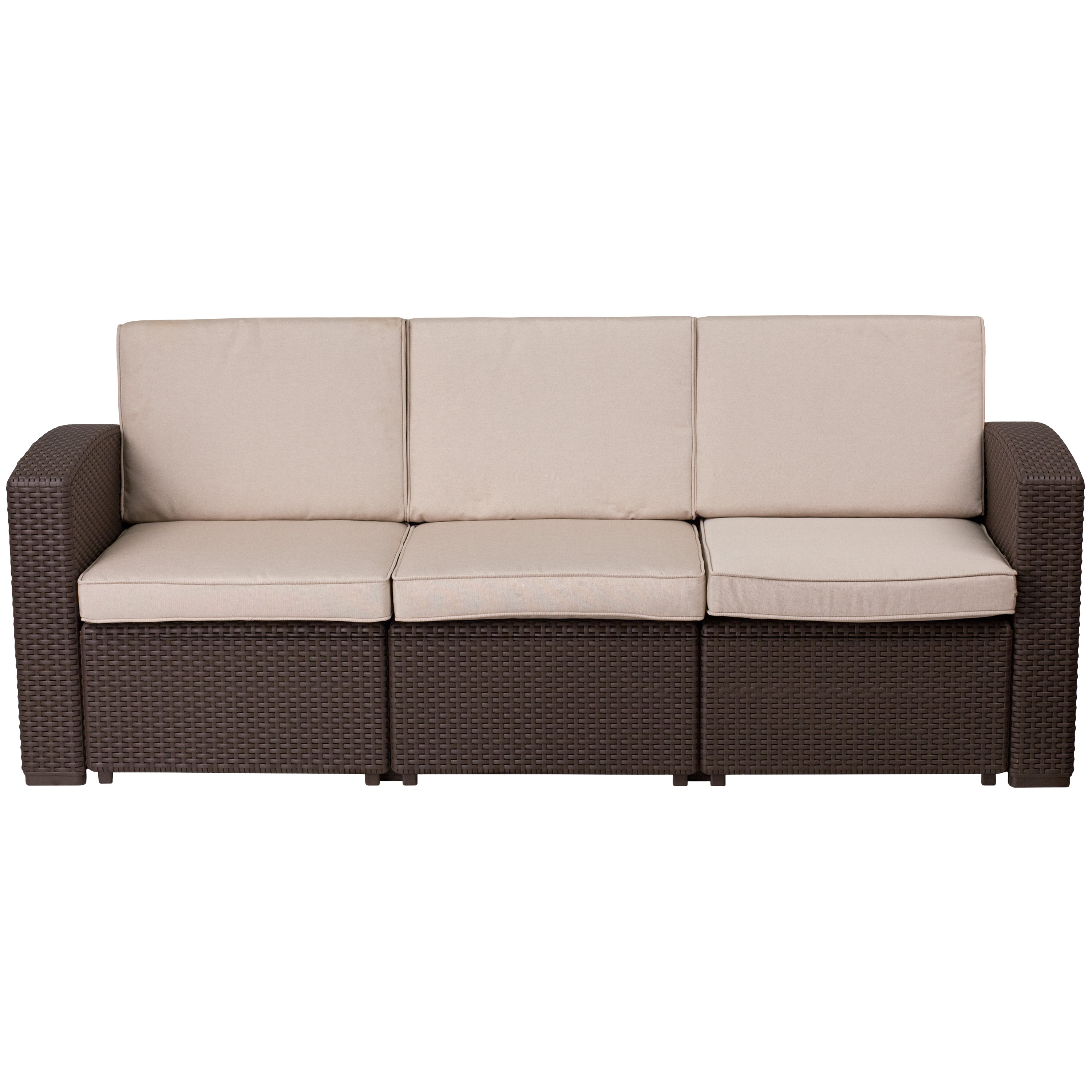 Most Recent Clifford Patio Sofa With Cushions Inside Stockwell Patio Sofas With Cushions (View 7 of 20)