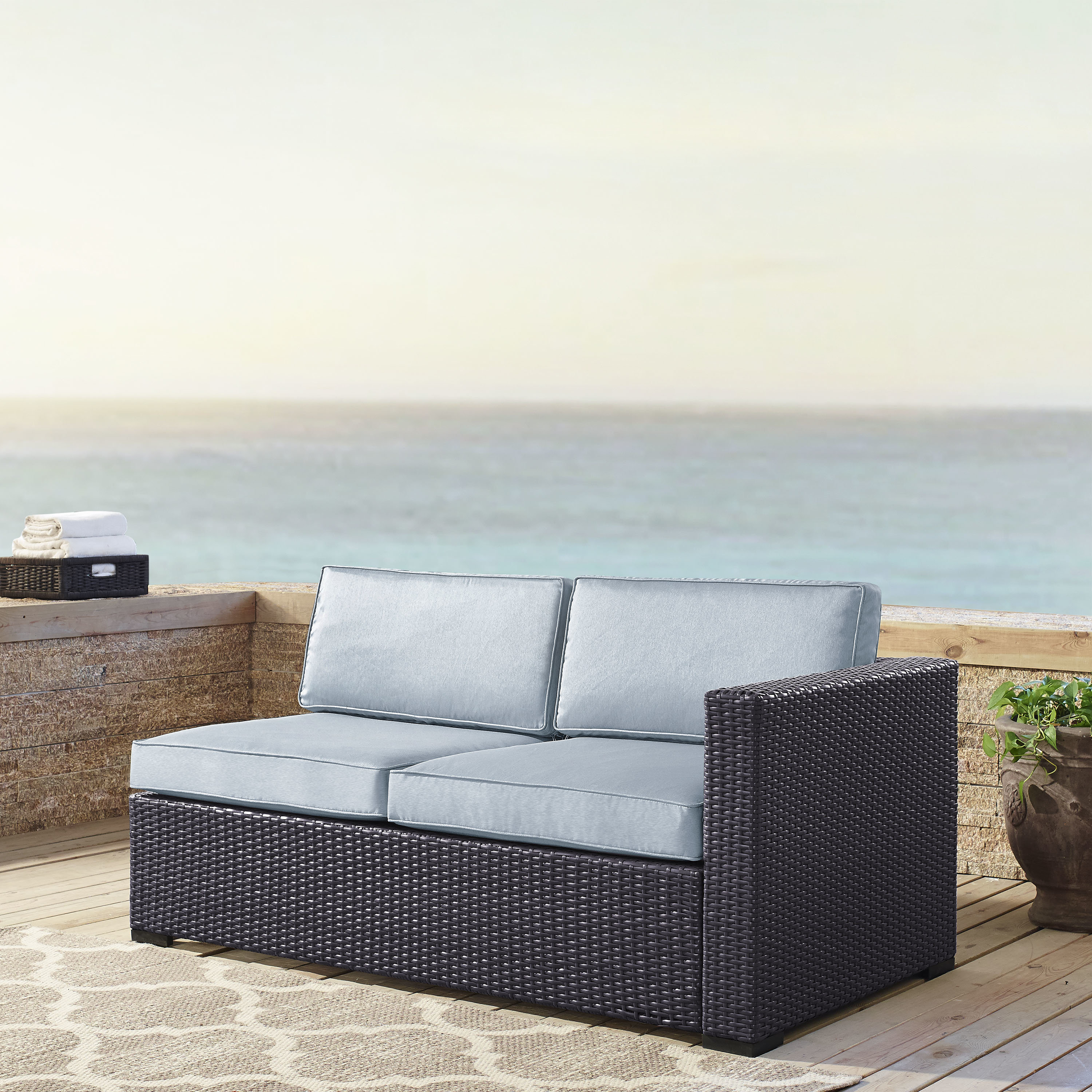 Most Recent Clifford Patio Sofas With Cushions Inside Seaton Loveseat With Cushions (View 10 of 20)