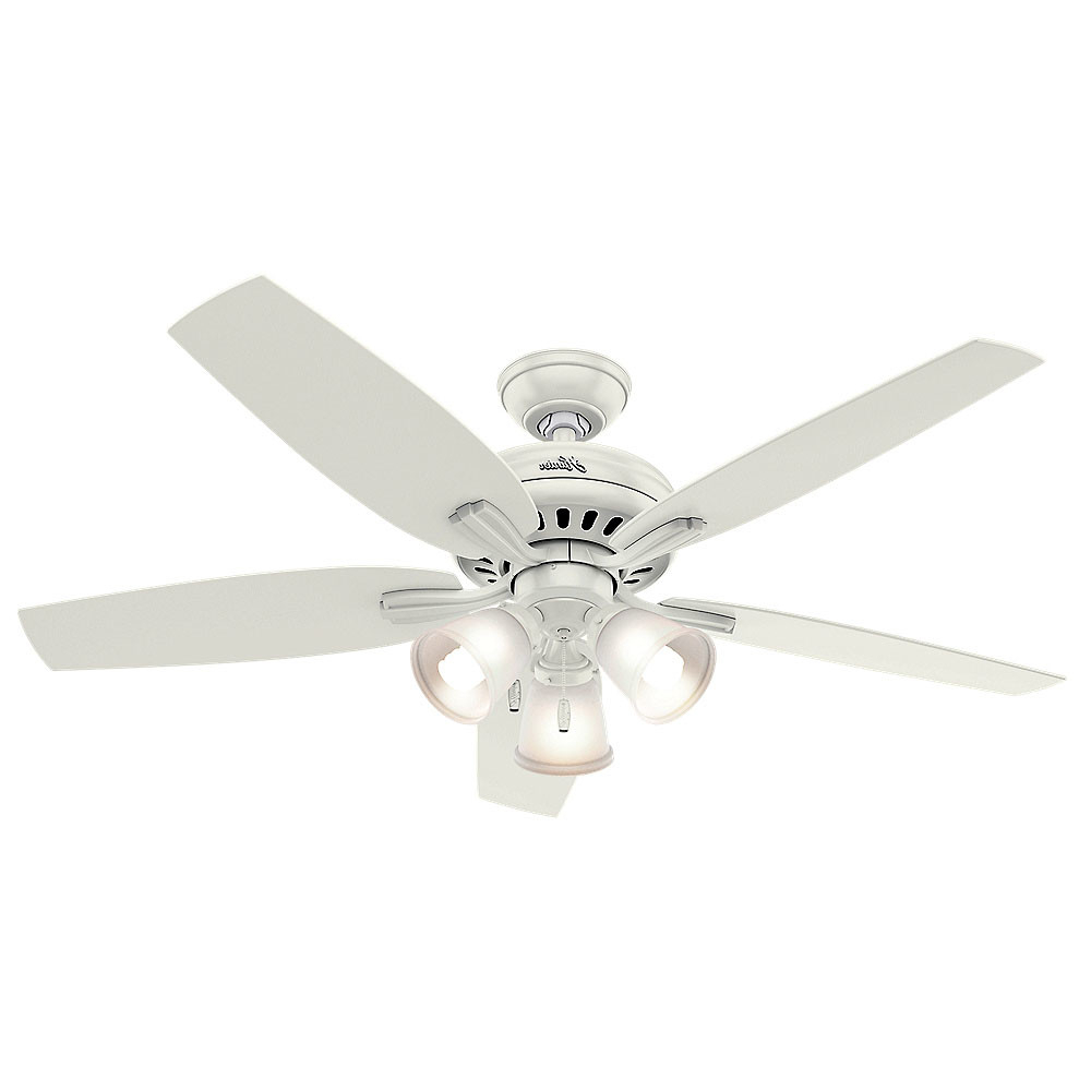 """Most Recent Details About Hunter 53316 52"""" Indoor Ceiling Fan – 5 Reversible Blades And Light Kit Included With Newsome 5 Blade Ceiling Fans (View 20 of 20)"""