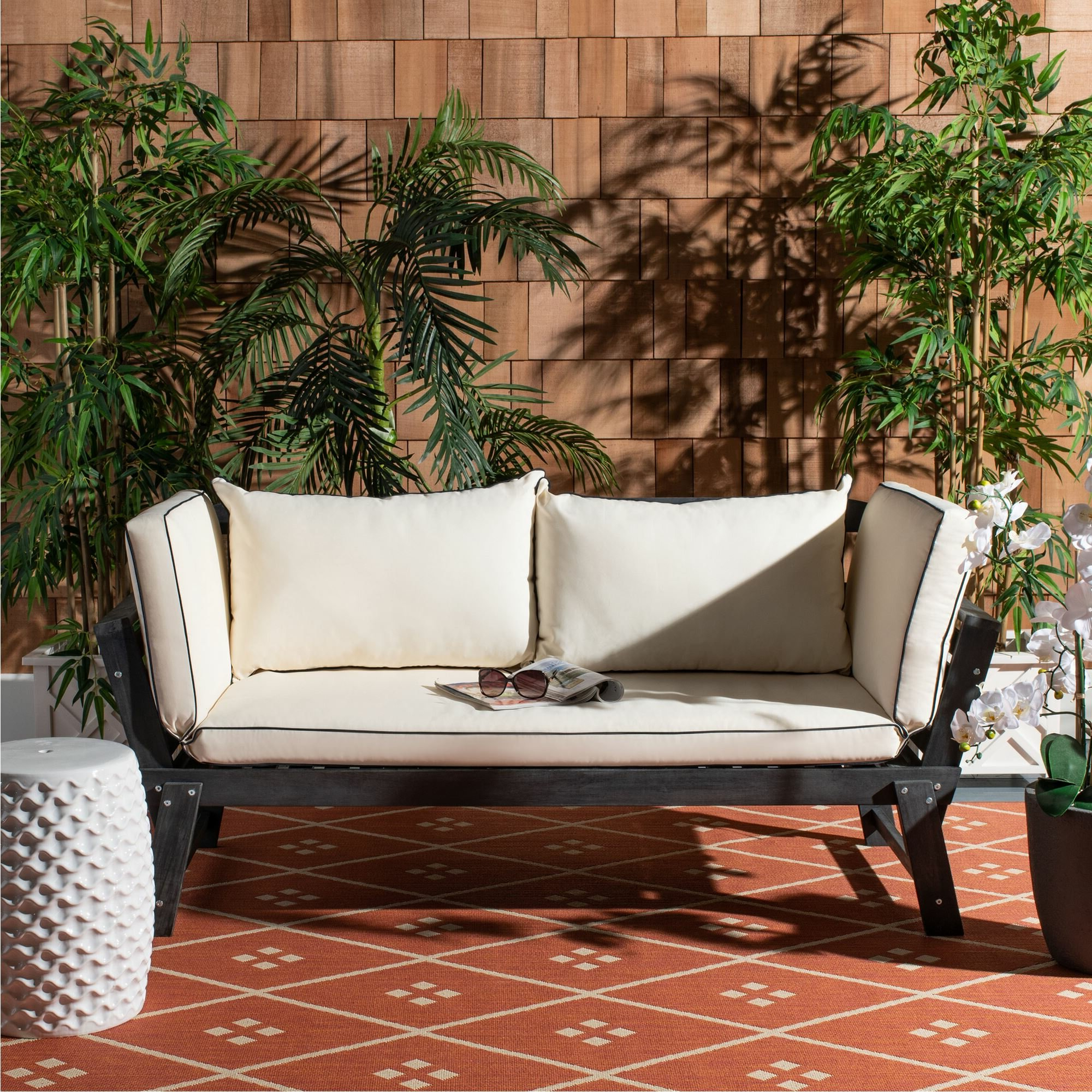 Most Recent Freeport Patio Daybeds With Cushion In Birch Lane™ Heritage Beal Patio Daybed With Cushions (View 11 of 20)