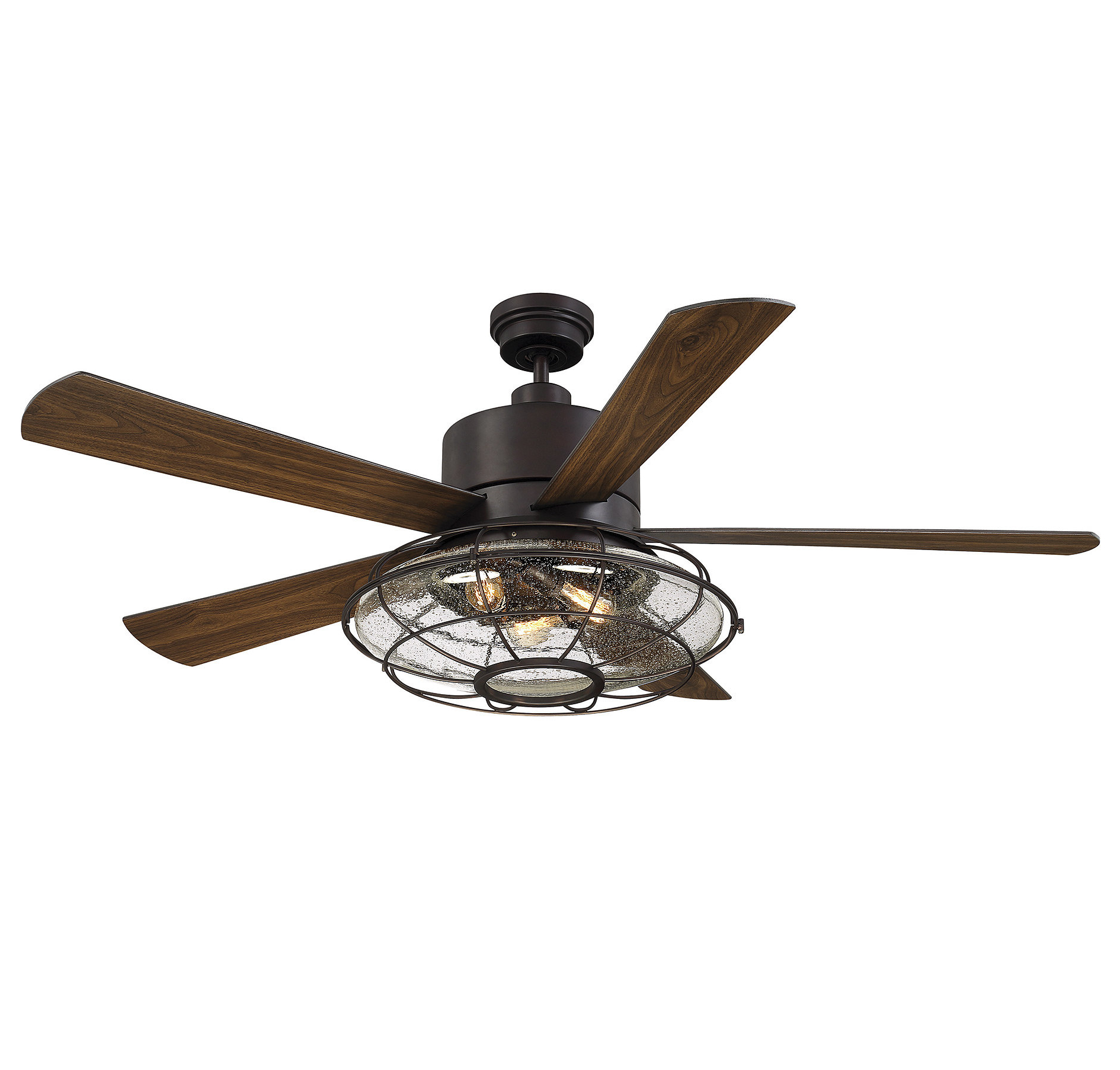 "Most Recent Glenpool 5 Blade Ceiling Fans For 56"" Roberts 5 Blade Ceiling Fan With Remote Control, Light Kit Included (View 8 of 20)"