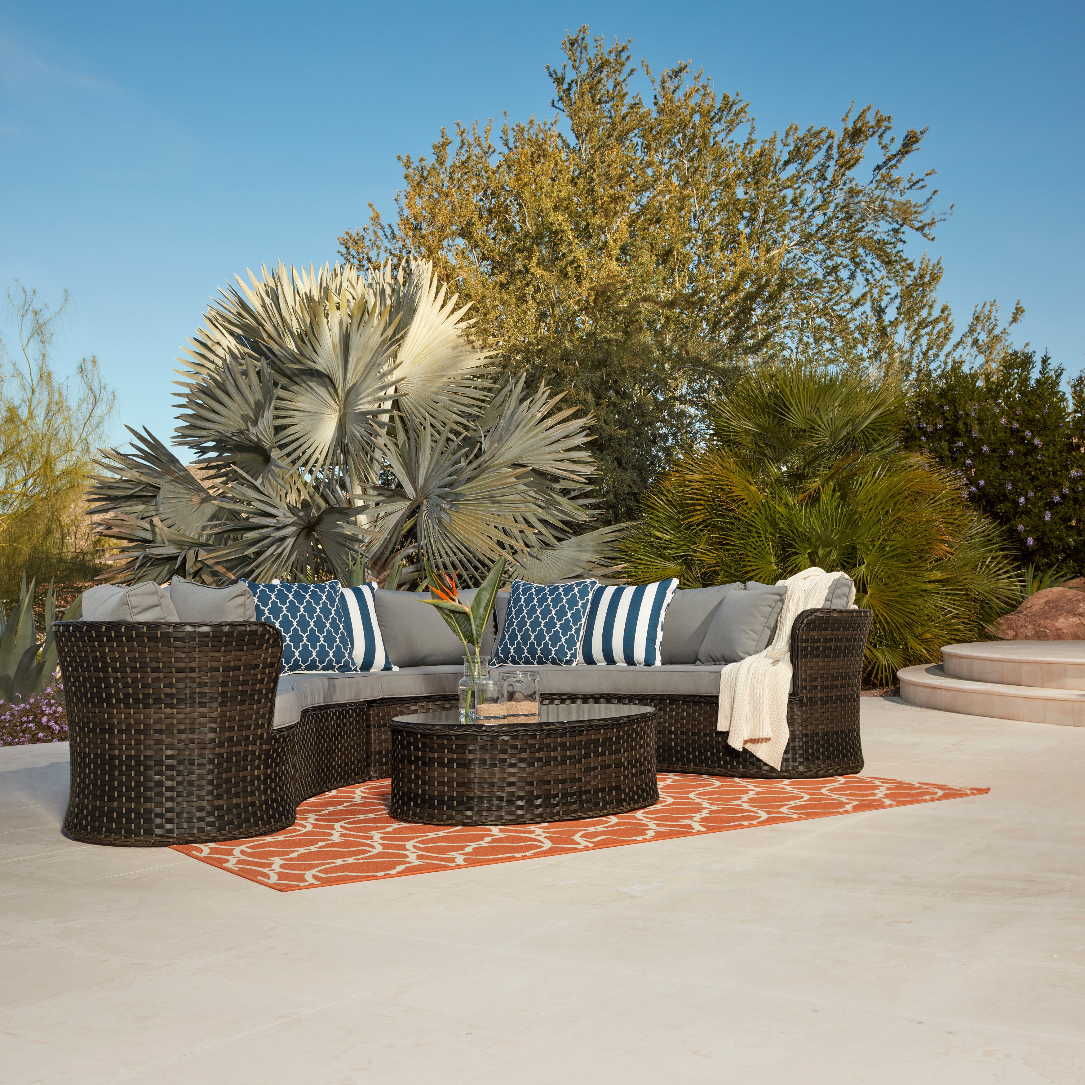 Most Recent Havenside Home Falmouth 4 Piece Sofa Set Intended For Falmouth Patio Sofas With Cushions (View 14 of 20)