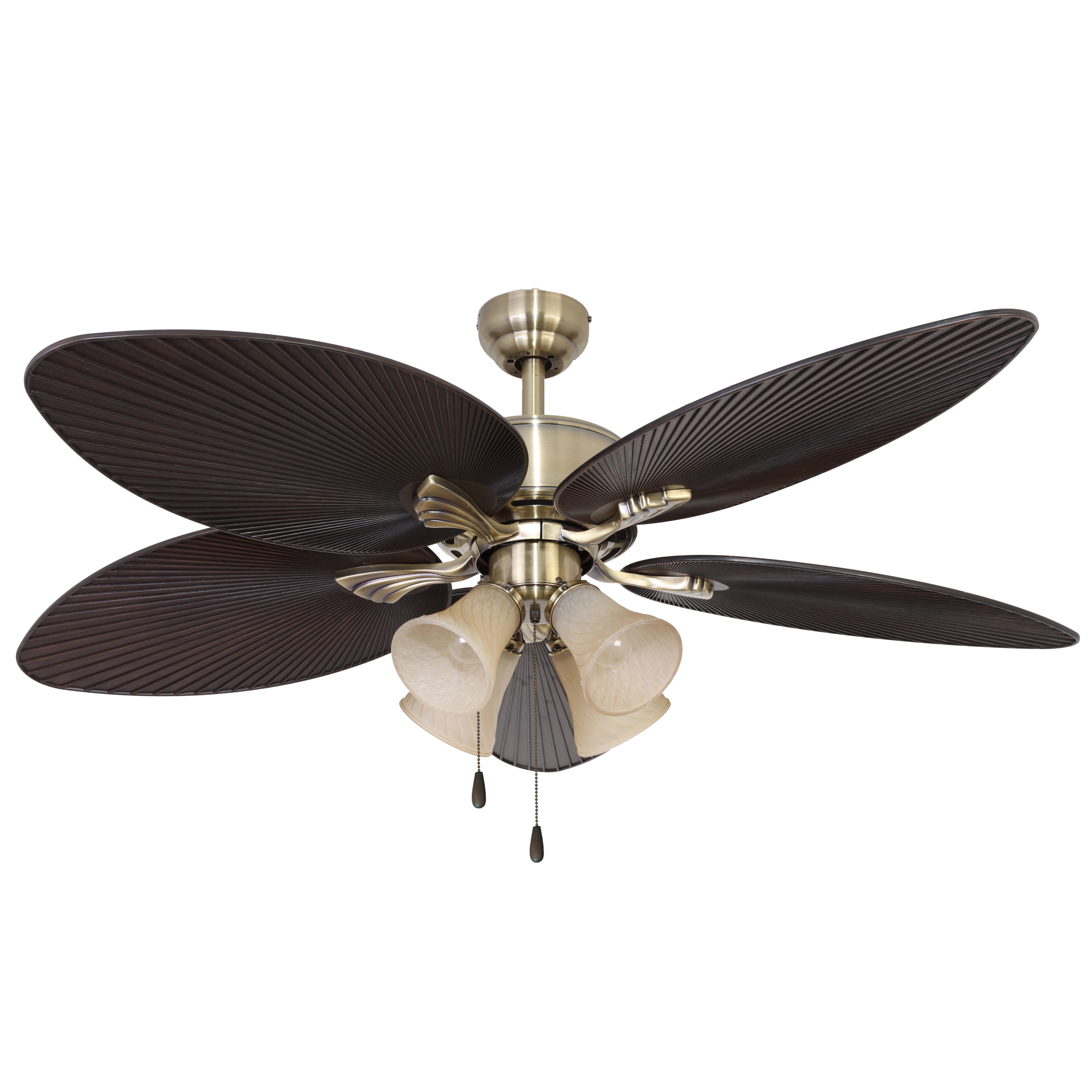 "Most Recent Mccarthy 5 Blade Ceiling Fans With 52"" Reylock 4 Light 5 Blade Ceiling Fan (View 8 of 20)"