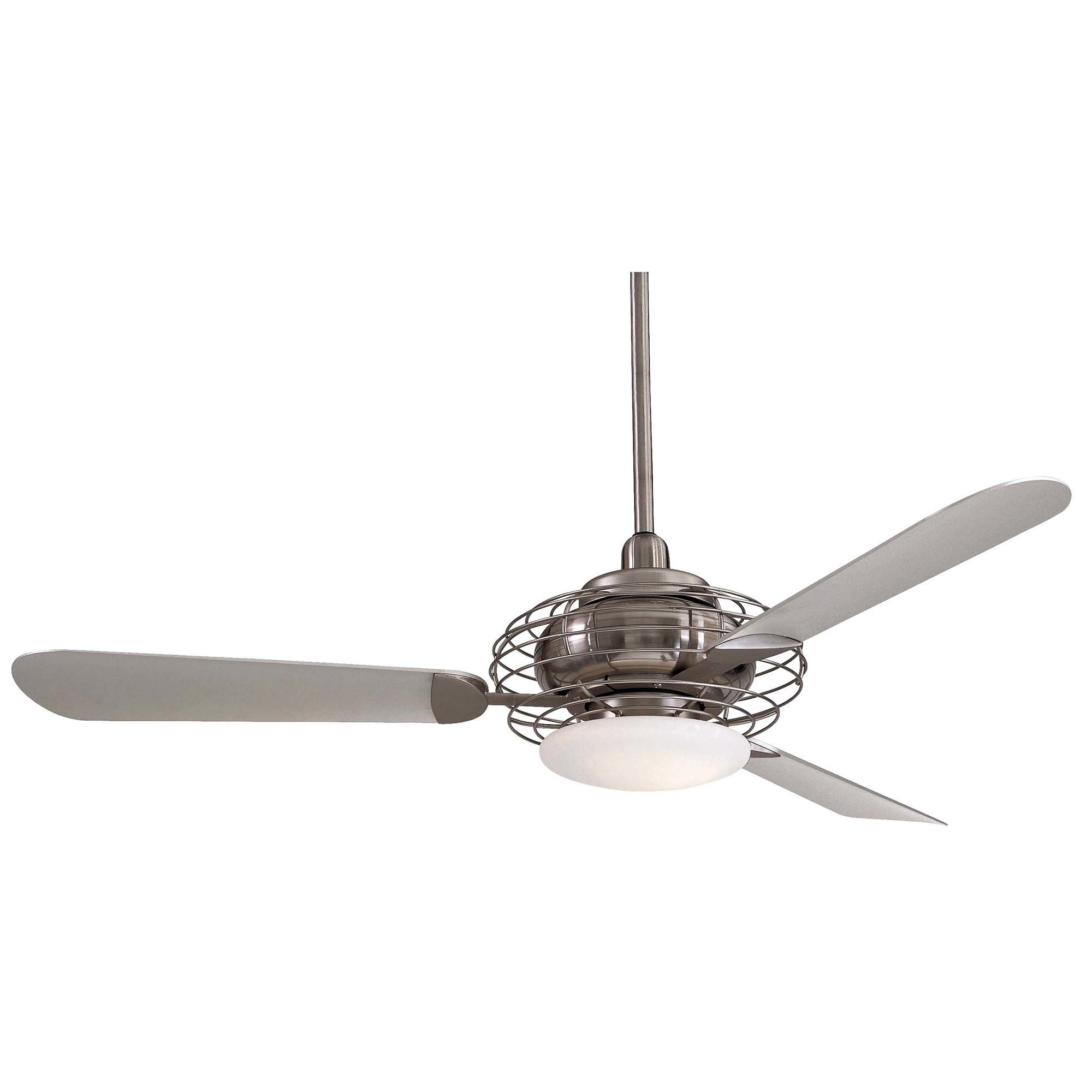 "Most Recent Nikki 3 Blade Ceiling Fans Throughout 52"" Acero Retro 3 Blade Led Ceiling Fan (View 18 of 20)"