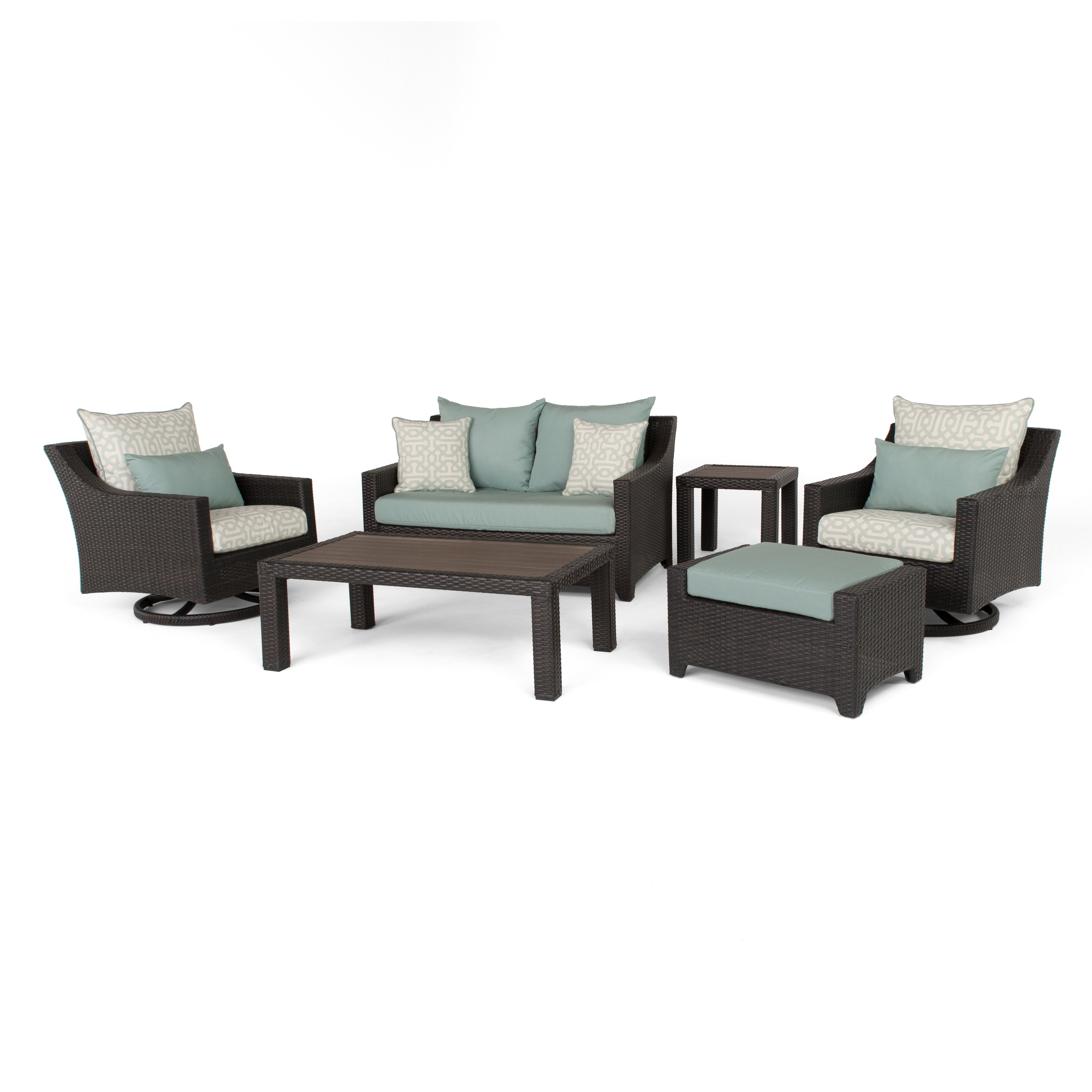 Most Recent Northridge 6 Piece Sunbrella Sofa Set With Cushions Throughout Northridge Patio Sofas With Sunbrella Cushions (View 6 of 20)