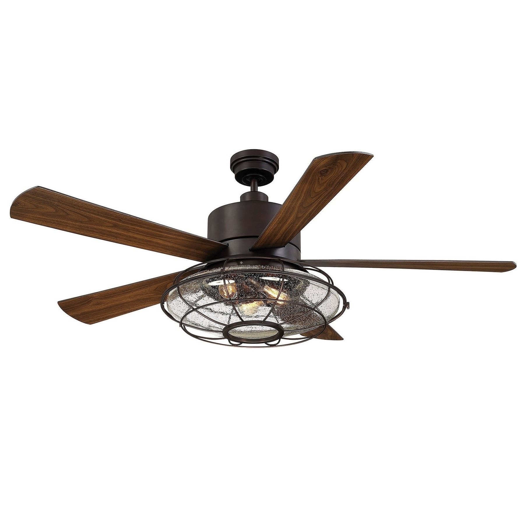 Most Recent Quebec 5 Blade Ceiling Fans Inside Savoy House Connell Bronze Finished 5 Blade Ceiling Fan With (View 4 of 20)