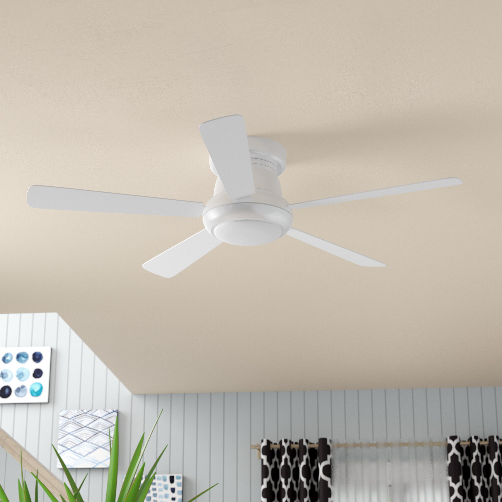 "Most Recently Released 52"" Mccurry 5 Blade Led Ceiling Fan With Remote Within Cedarton 5 Blade Led Ceiling Fans (View 10 of 20)"
